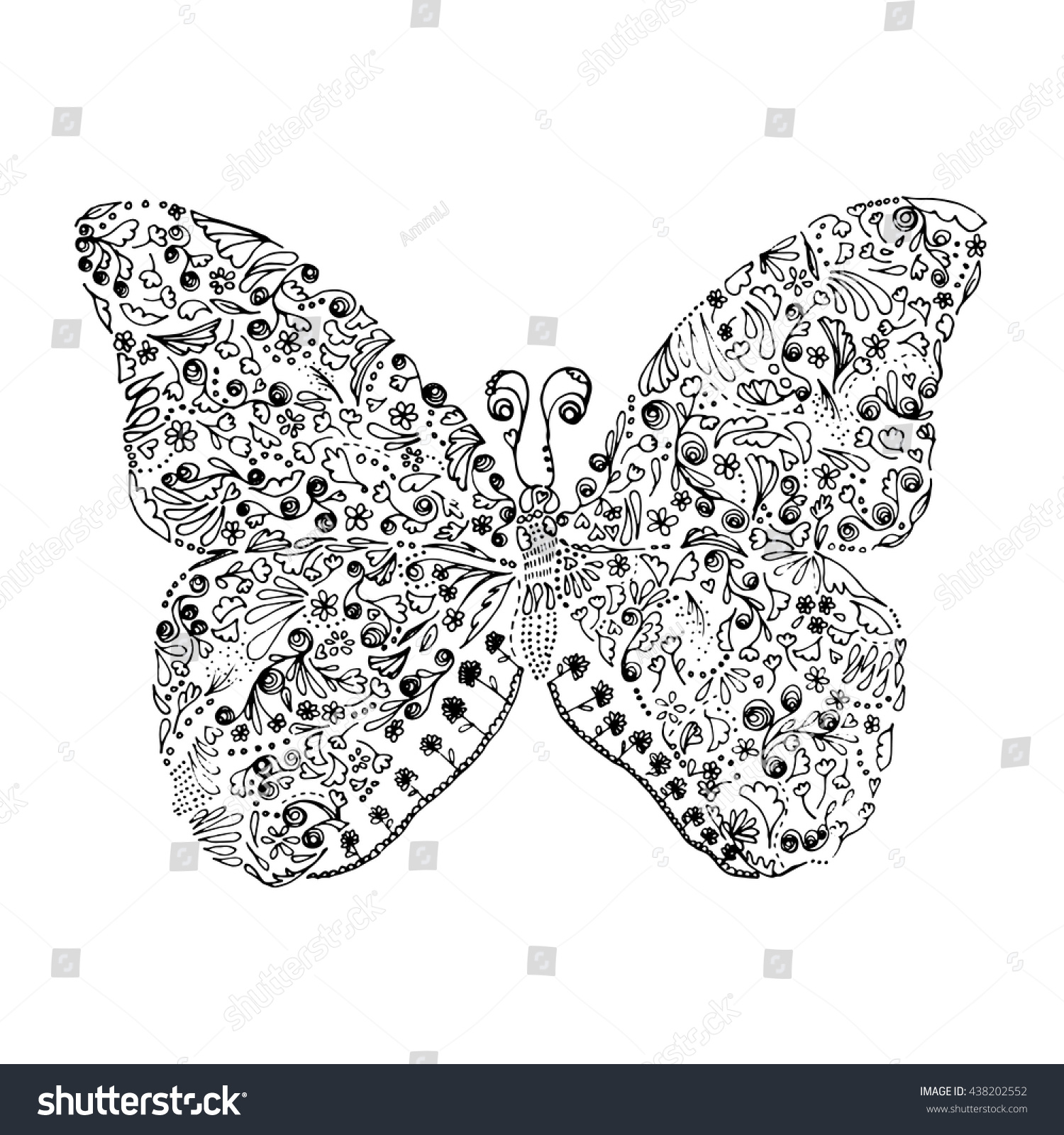 royalty free abstract butterfly line drawing black u2026 438202552