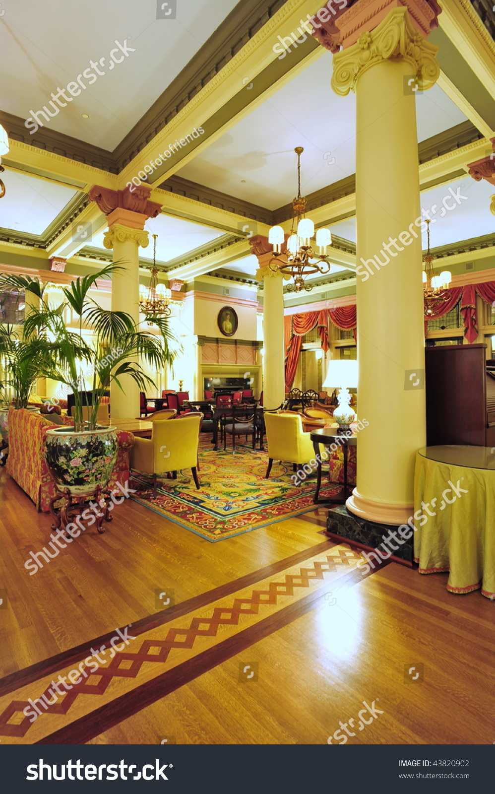 Historic Victorian Style Hotel Lobby Interior Look Stock Photo 43820902 : Shutterstock