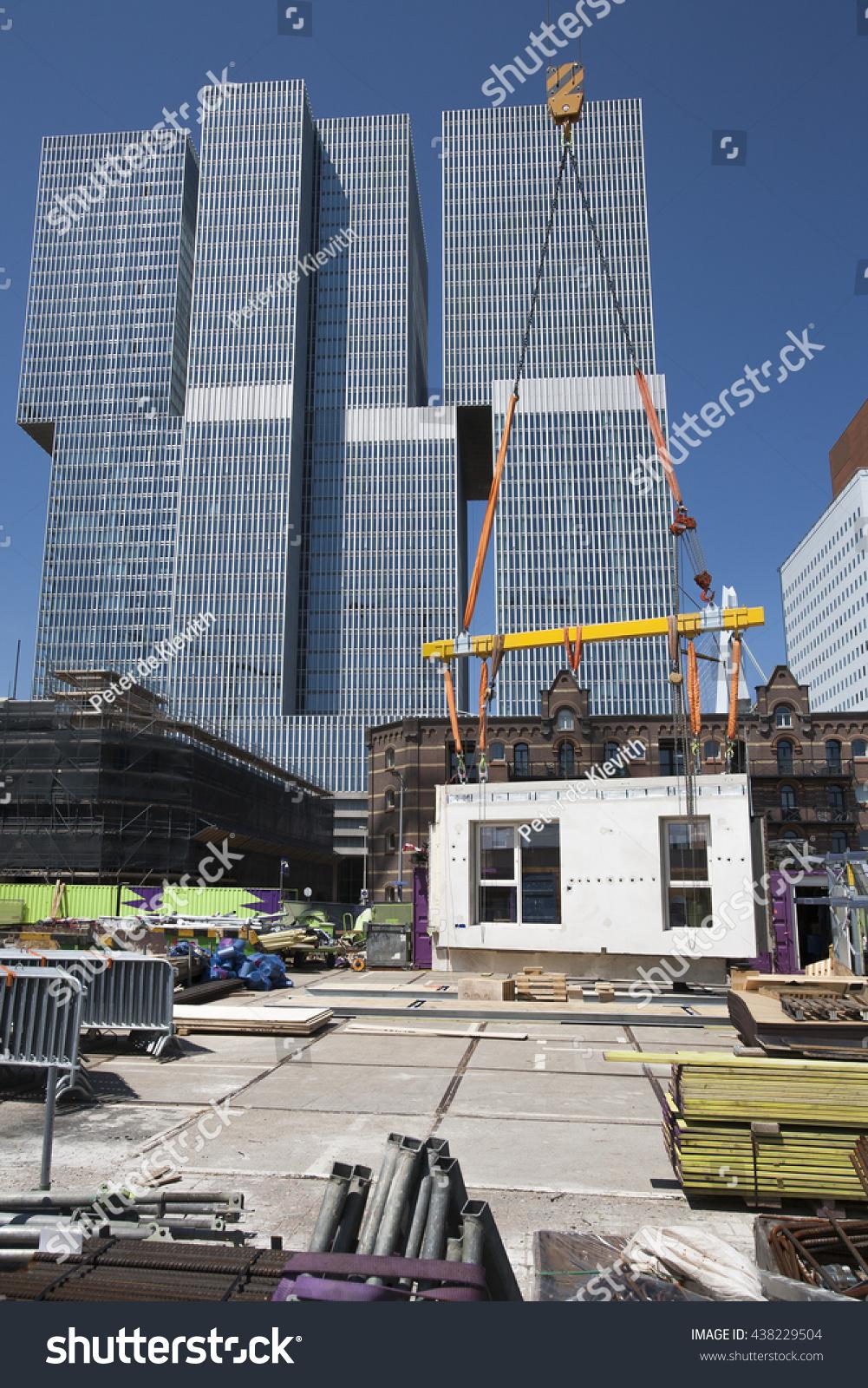 Rotterdam June 6 2016 Crane Lifting Stock Photo 438229504  # Muebles Rotterdam Bogota