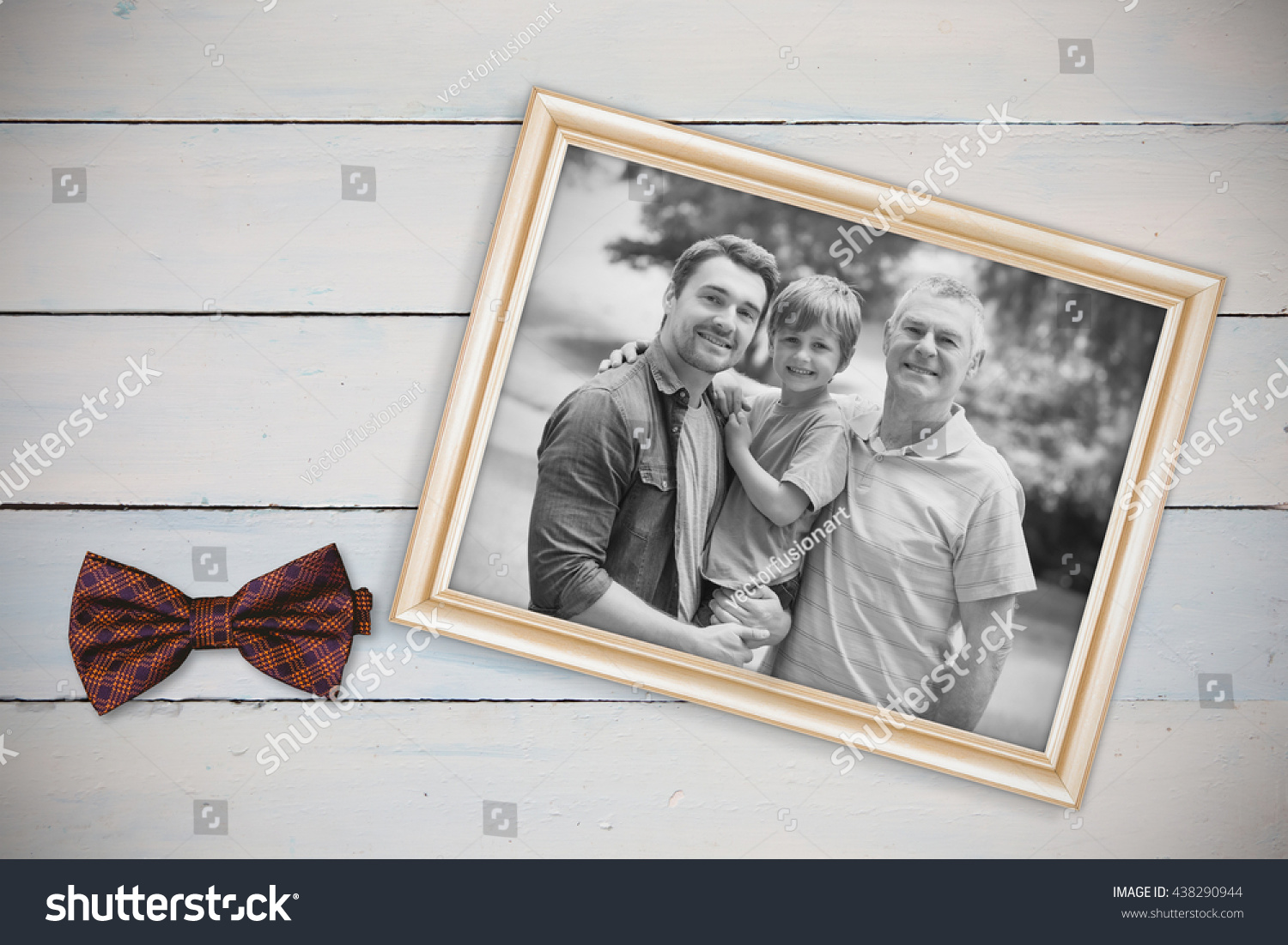 Grandfather Father Son Family Background Park Stock Photo (Edit Now ...