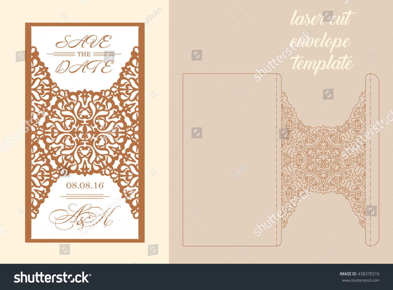 Wedding Invitation Greeting Card Abstract Ornament Stock Vector