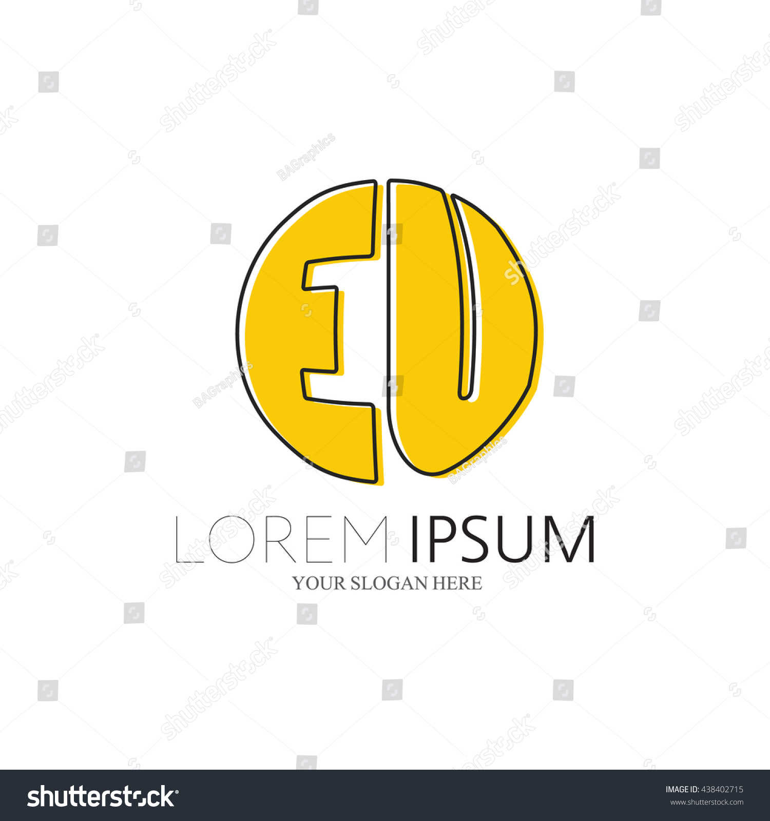 EU Logo Vector Graphic Sphere Branding Stock Vector Royalty Free