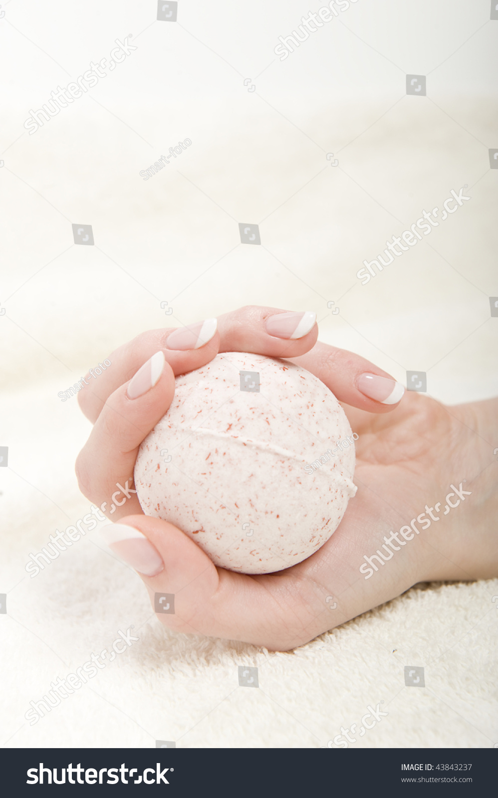 Beautiful Hand Perfect French Manicure Strong Stock Photo 43843237 ...