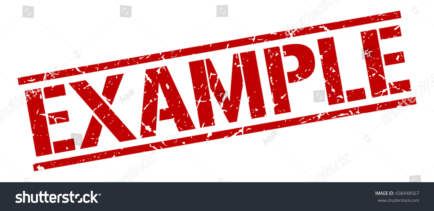 Example Stamp Stamp Sign Example Stock Vector 438448567