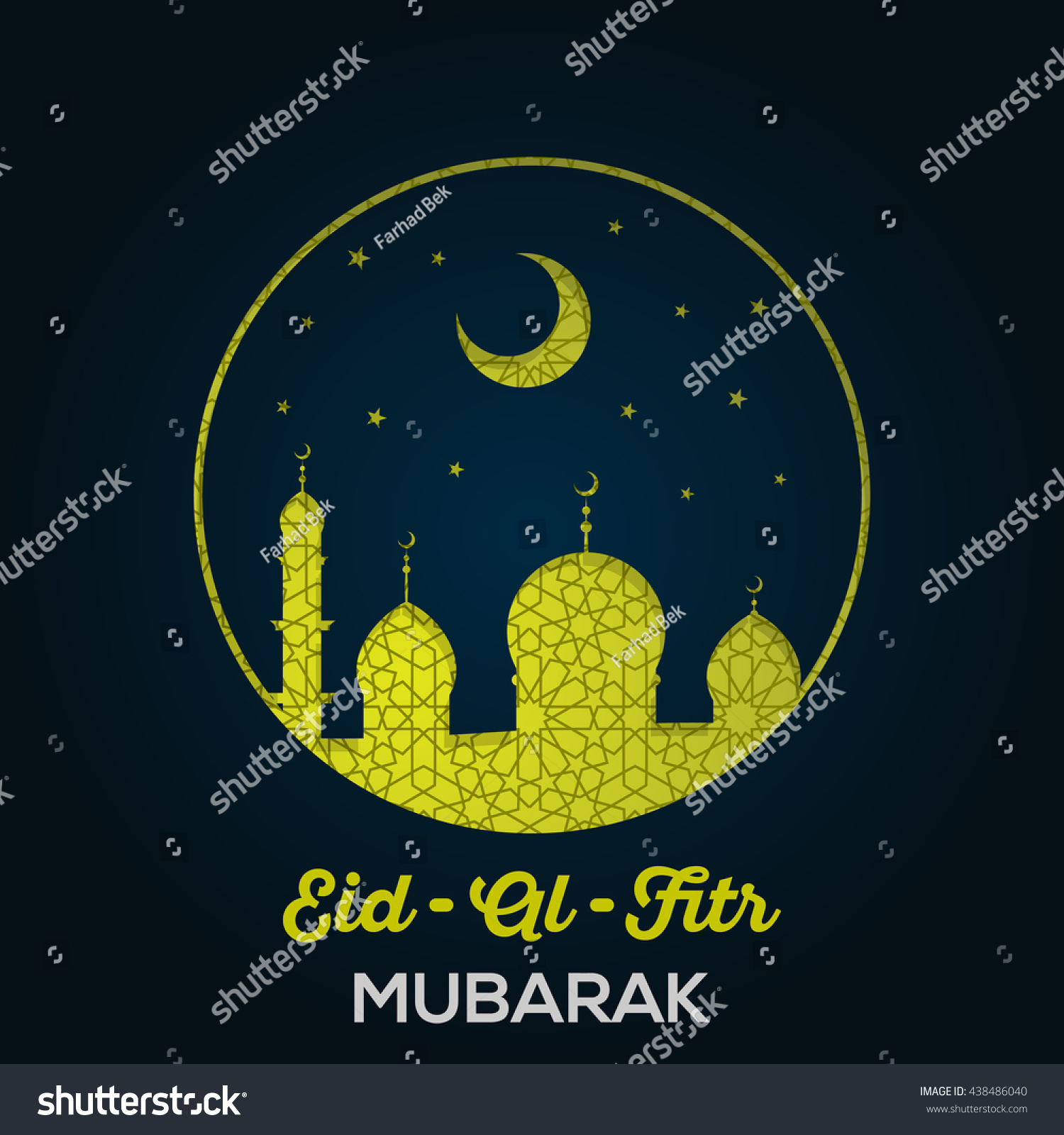 Eid al fitr mubarak greeting card stock vector hd royalty free eid al fitr mubarak greeting card or banner with mosques stars moon and m4hsunfo