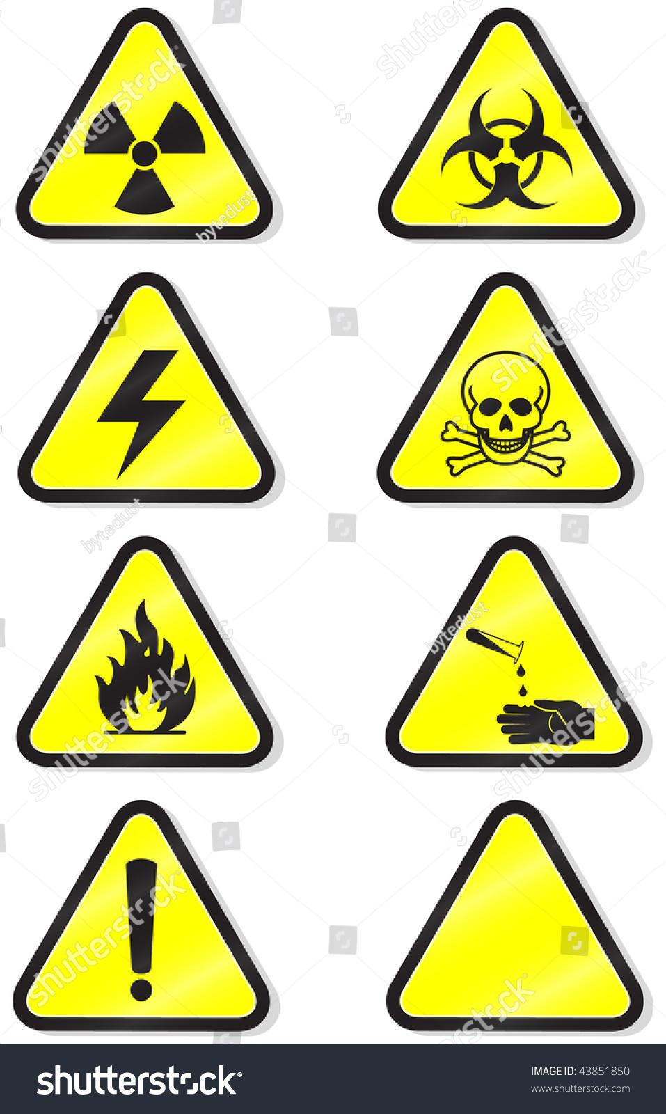 Vector Illustration Set Different Hazmat Warning Stock Vector 2018