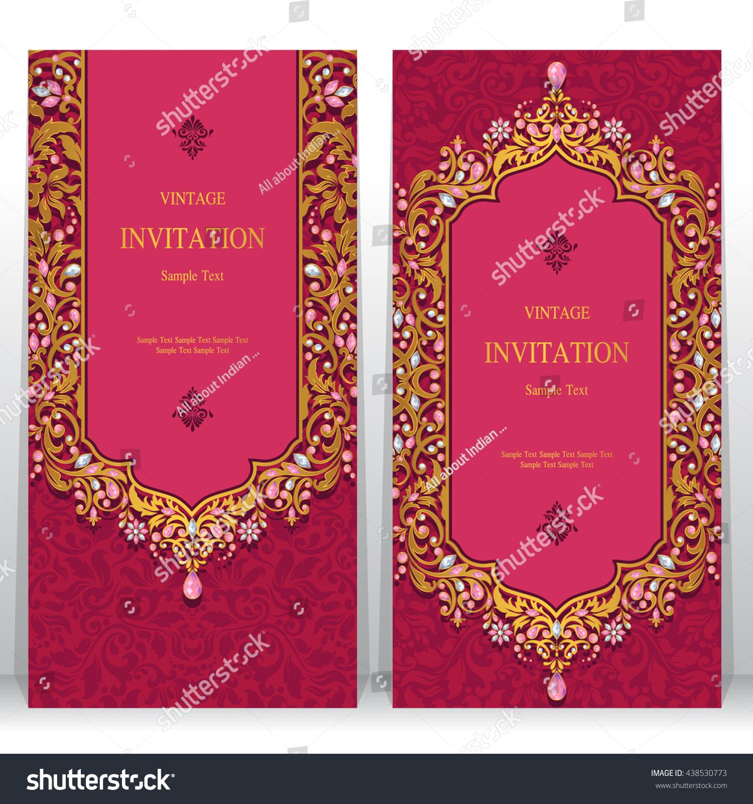 Wedding Invitation Card Abstract Background Islam Stock Vector (2018 ...