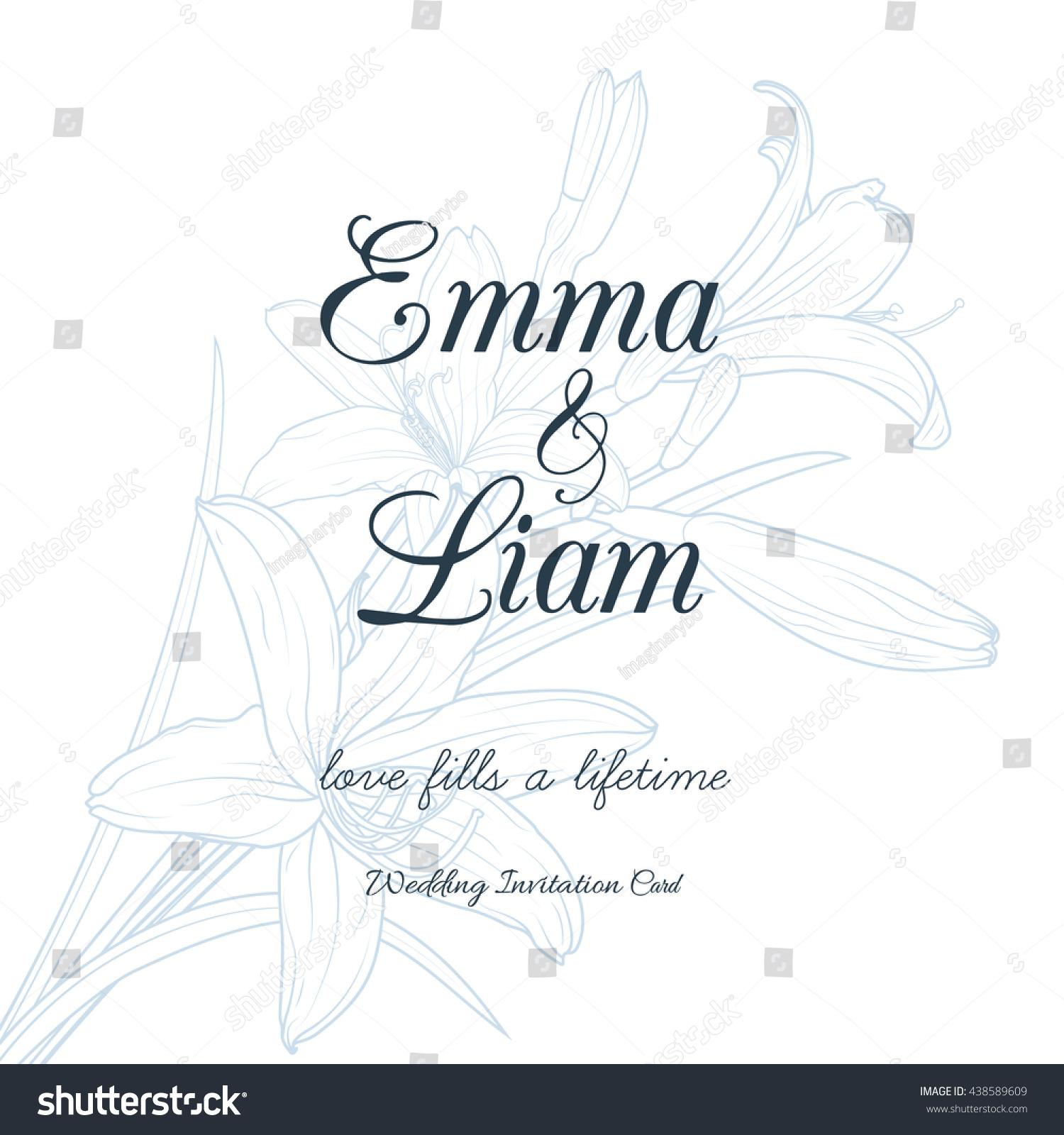 Wedding Invitation Card Template Elegant White Stock Vector (Royalty ...