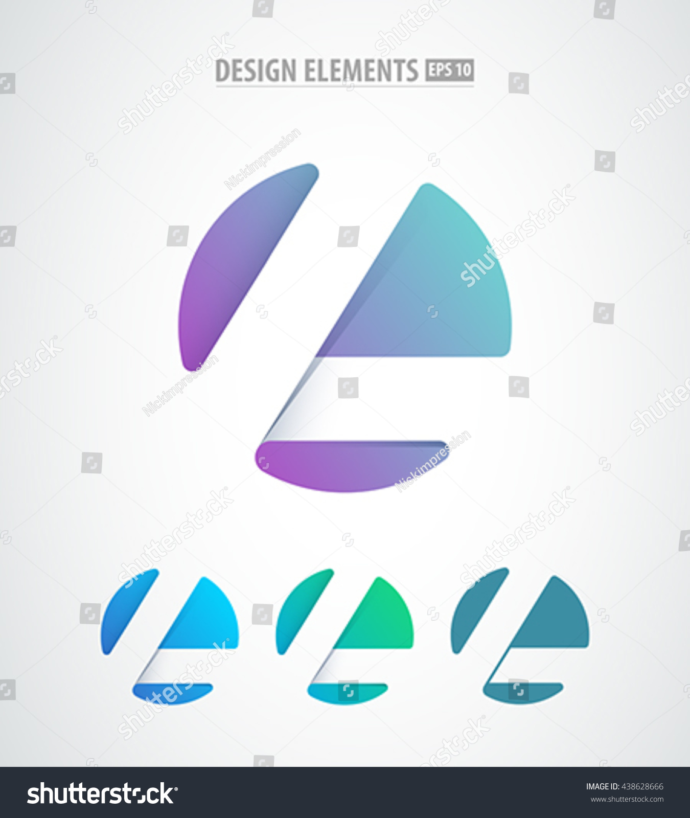 Vector Abstract Letter L Logo Icon Stock Vector 438628666