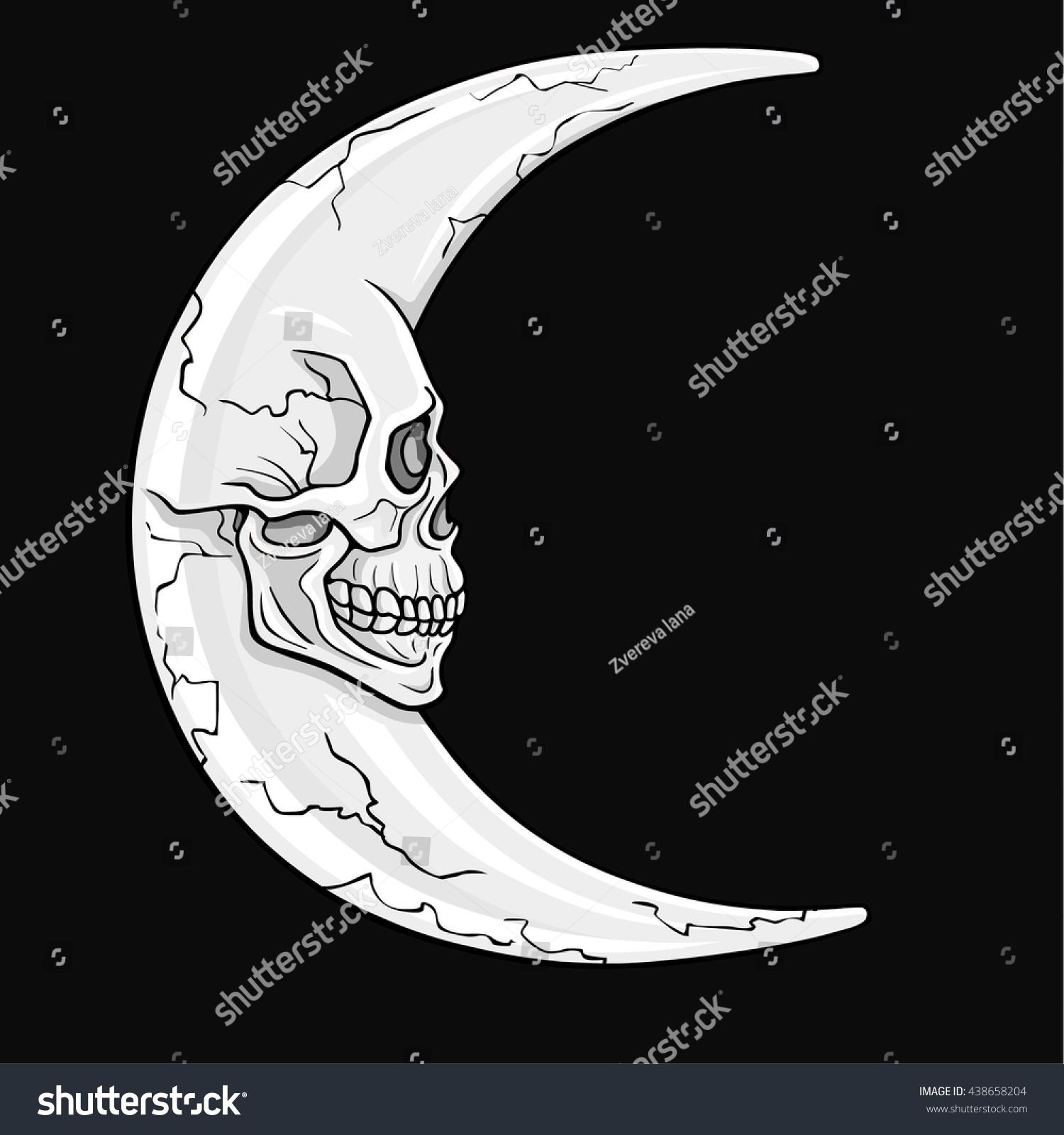 Fantastic crescent moon form human skull stock vector 438658204 the fantastic crescent moon in the form of a human skull esoteric symbol biocorpaavc Gallery