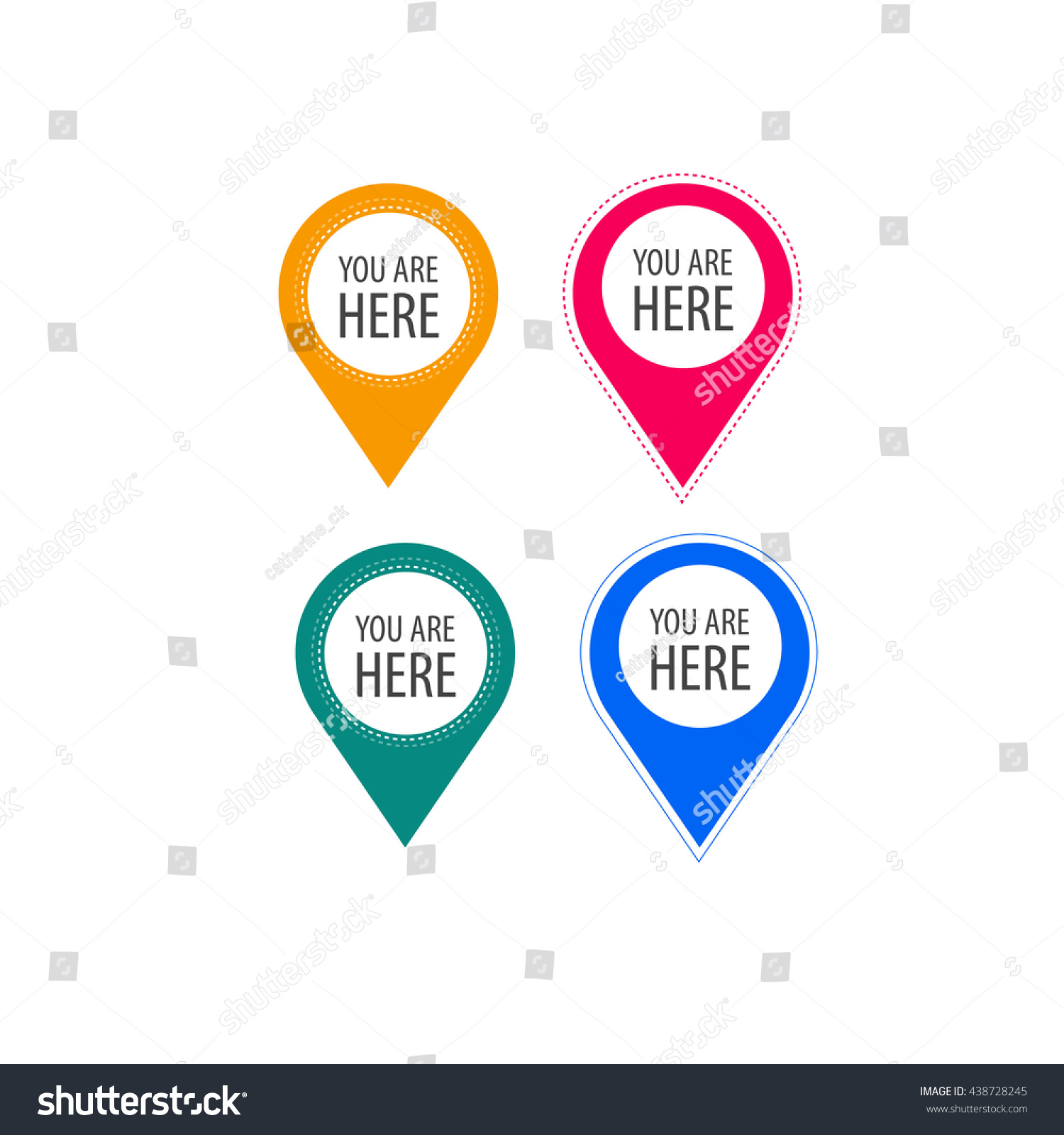 You Here Icons Info Speech Bubble Stock Vector Royalty Free
