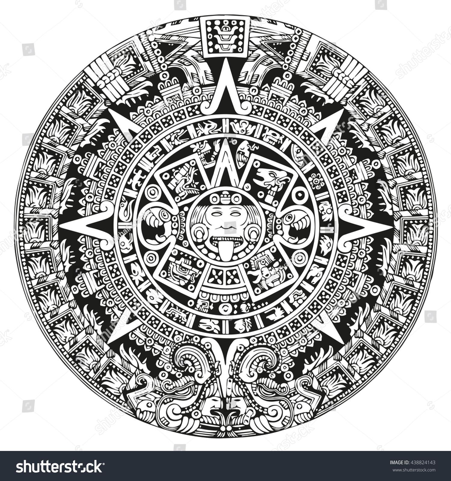 mayan symbols calendar stock illustration 438824143 shutterstock