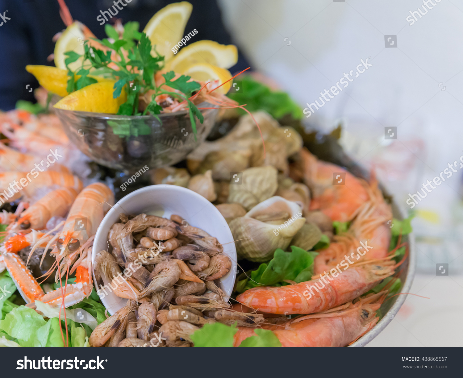 Populaire French Mixed Cold Seafood Platter Plateau Stock Photo 438865567  WQ59