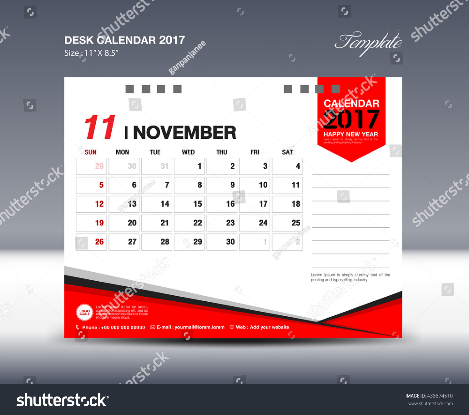 November Calendar Design : November desk calendar design template stock vector