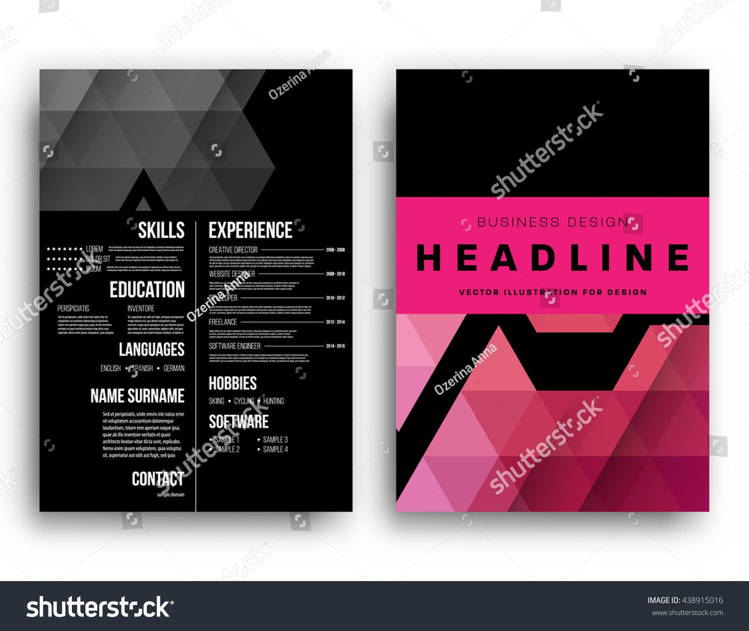 Abstract Background Geometric Shapes Frames Presentation Stock ...