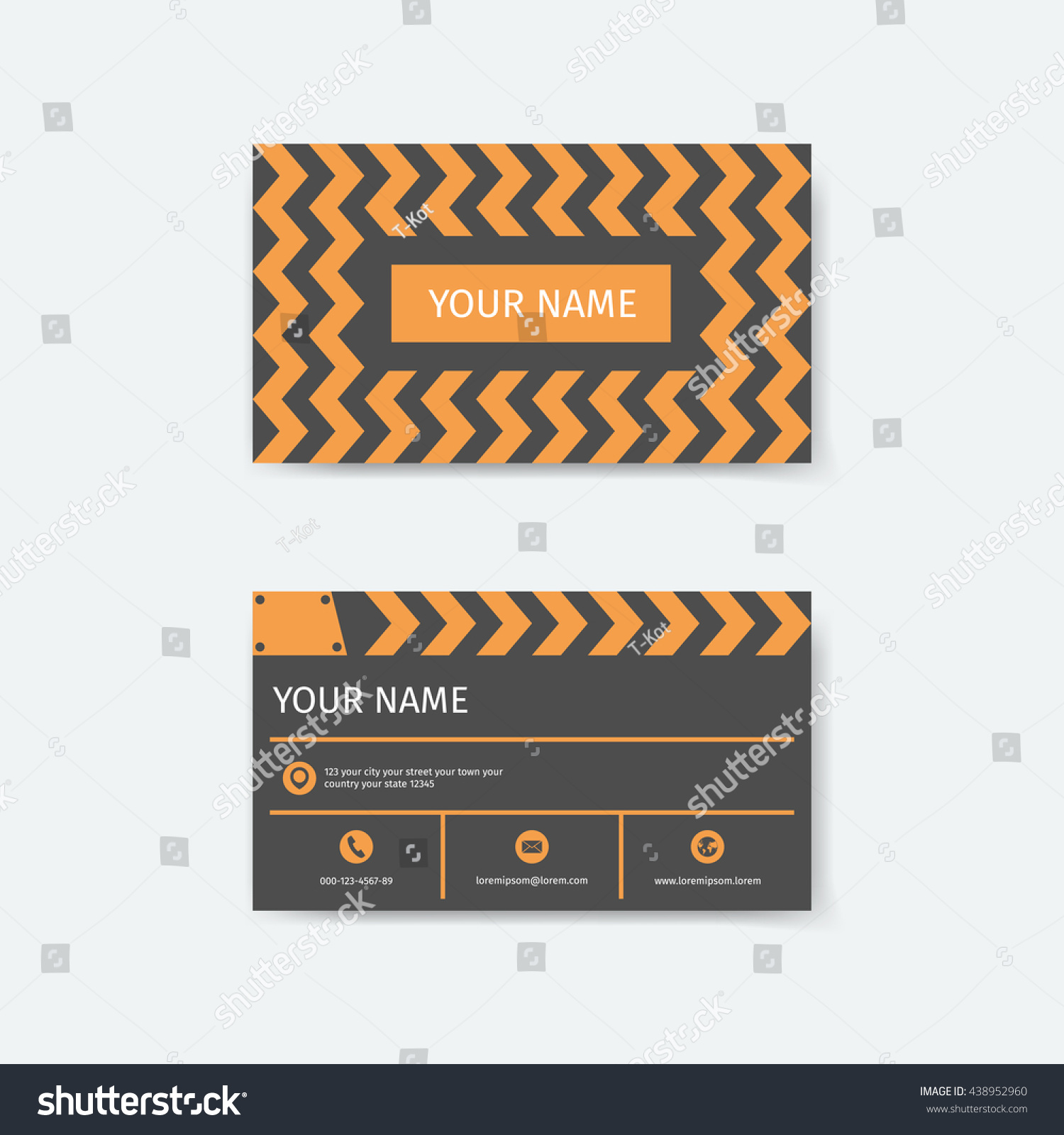 Business Card Design Template Clapboard Film Stock Vector 438952960 ...