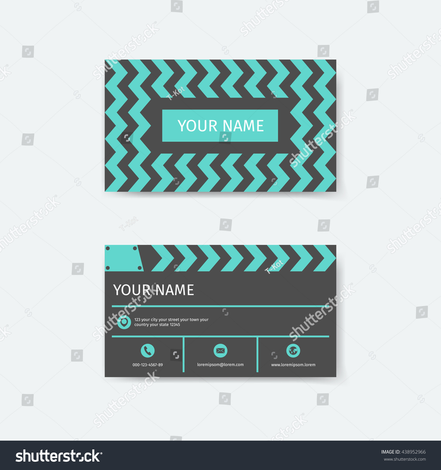 Business Card Design Template Clapboard Film Stock Vector ...