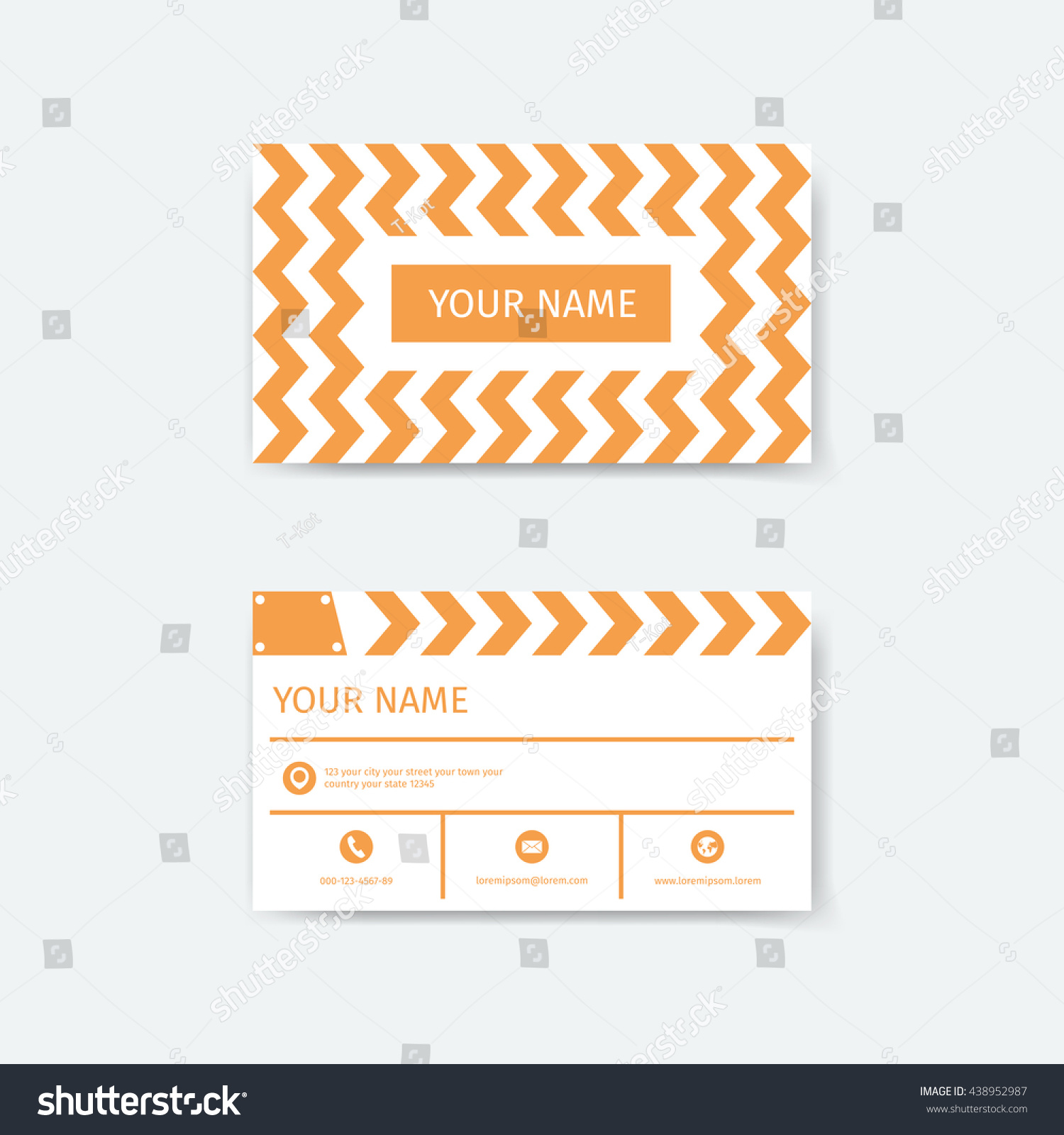 Business Card Design Template Clapboard Film Stock Vector 438952987 ...
