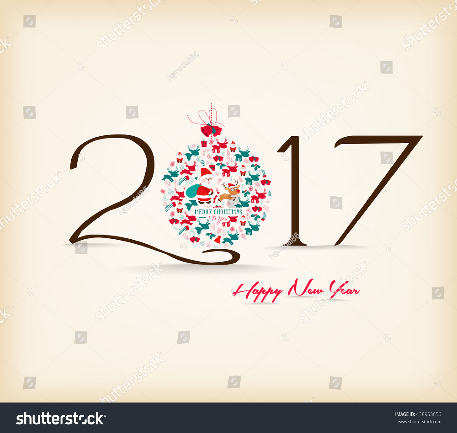 Happy New Year Celebration Background Stock Vector Royalty Free