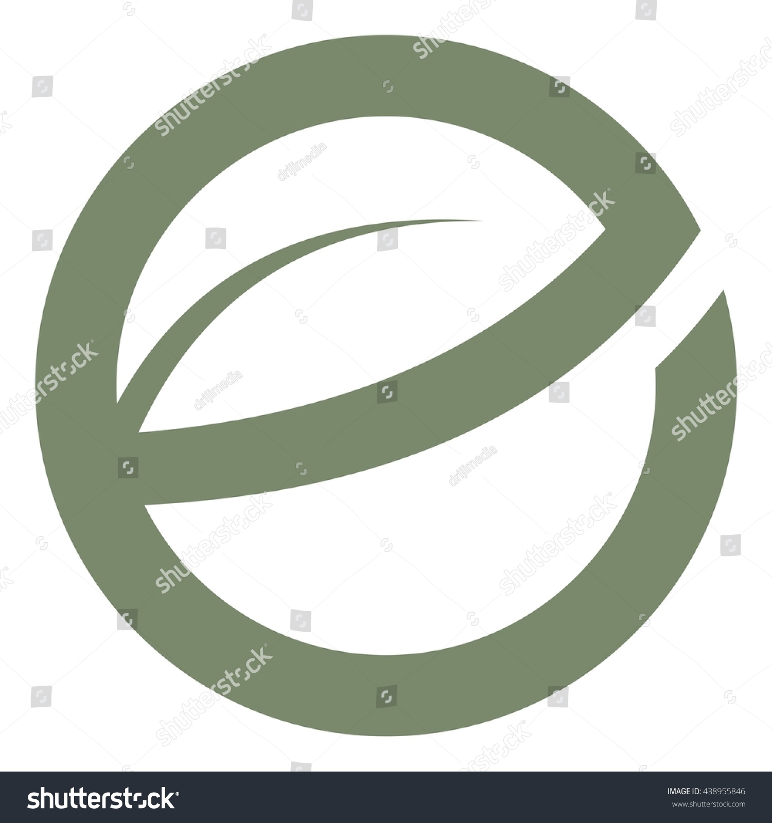Leave letter e circle logo design stock vector 438955846 shutterstock thecheapjerseys Image collections