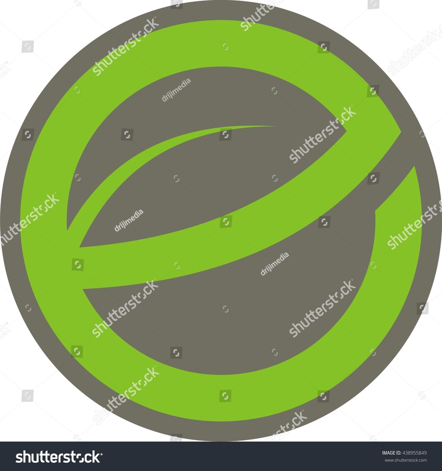 Leave letter e circle logo design stock vector 438955849 shutterstock leave letter e in circle logo design altavistaventures Images