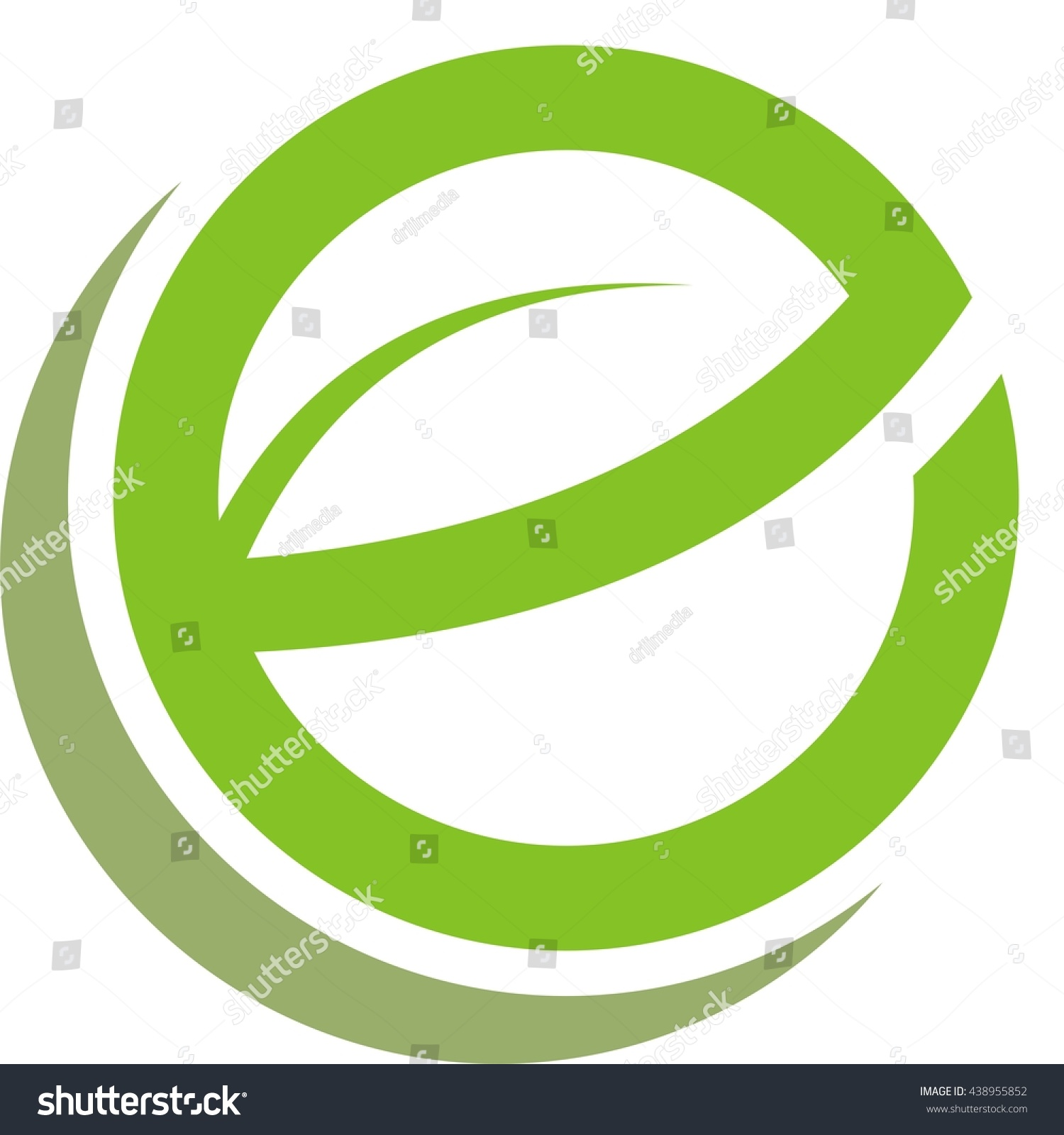 Leave letter e circle logo design stock vector 438955852 shutterstock leave letter e in circle logo design thecheapjerseys Image collections