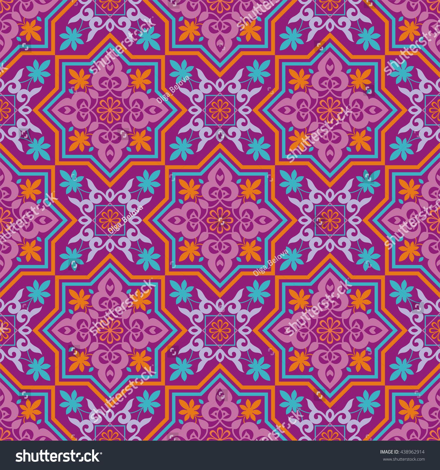 Arabesque pattern moorish style arab seamless stock vector for Arabesque style decoration