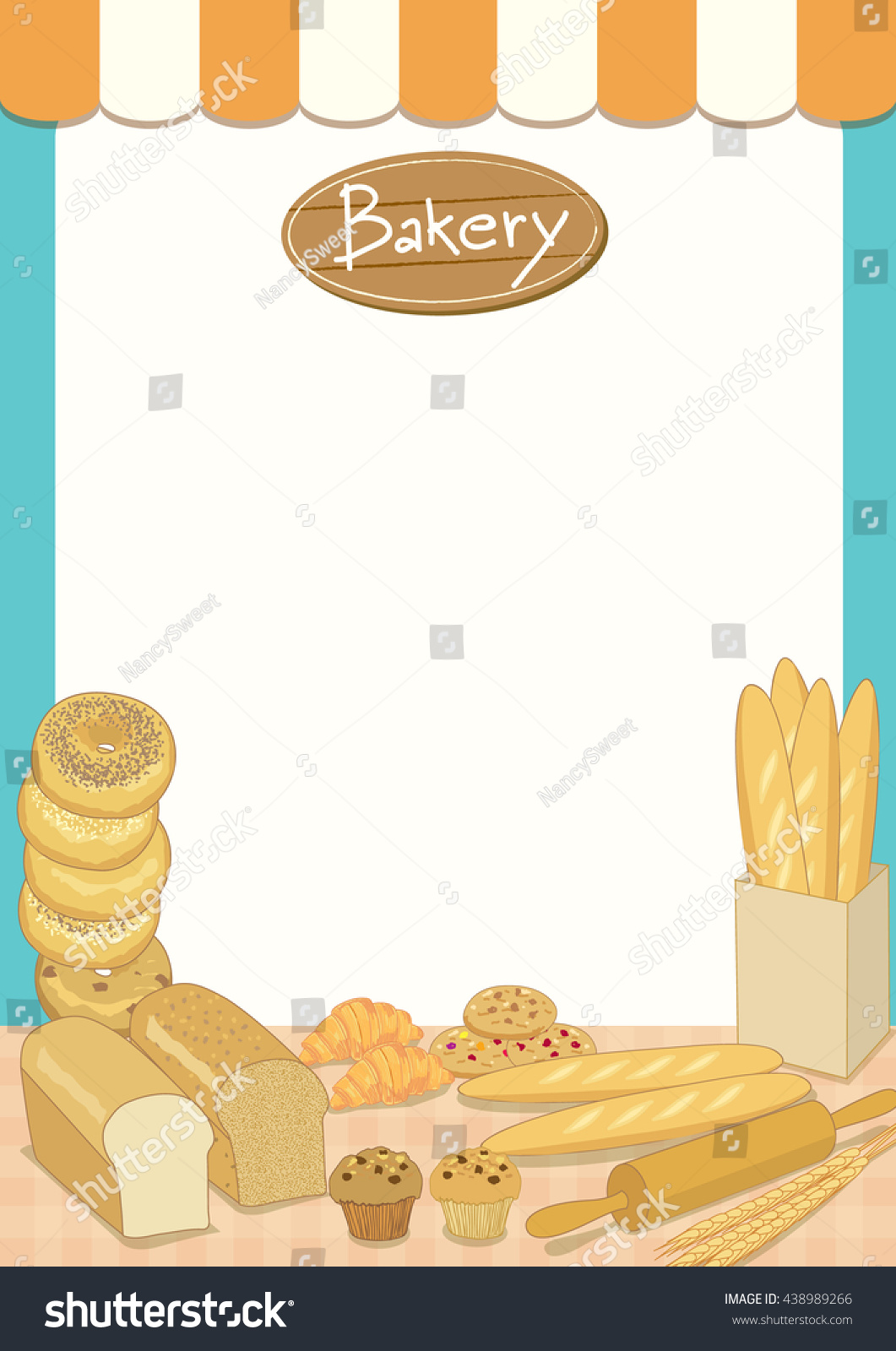 Menu Template Design Vector Illustrationbakery Cafe Vector – Sample Bakery Menu Template