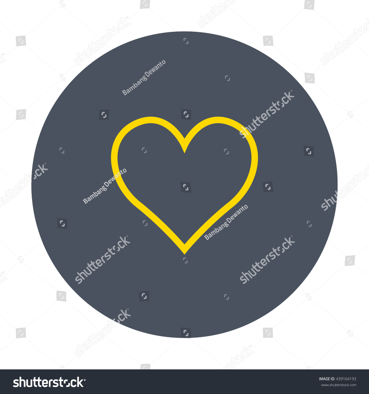 Gold line social love icon dark stock vector 439164193 shutterstock gold line social love icon in dark circle buycottarizona