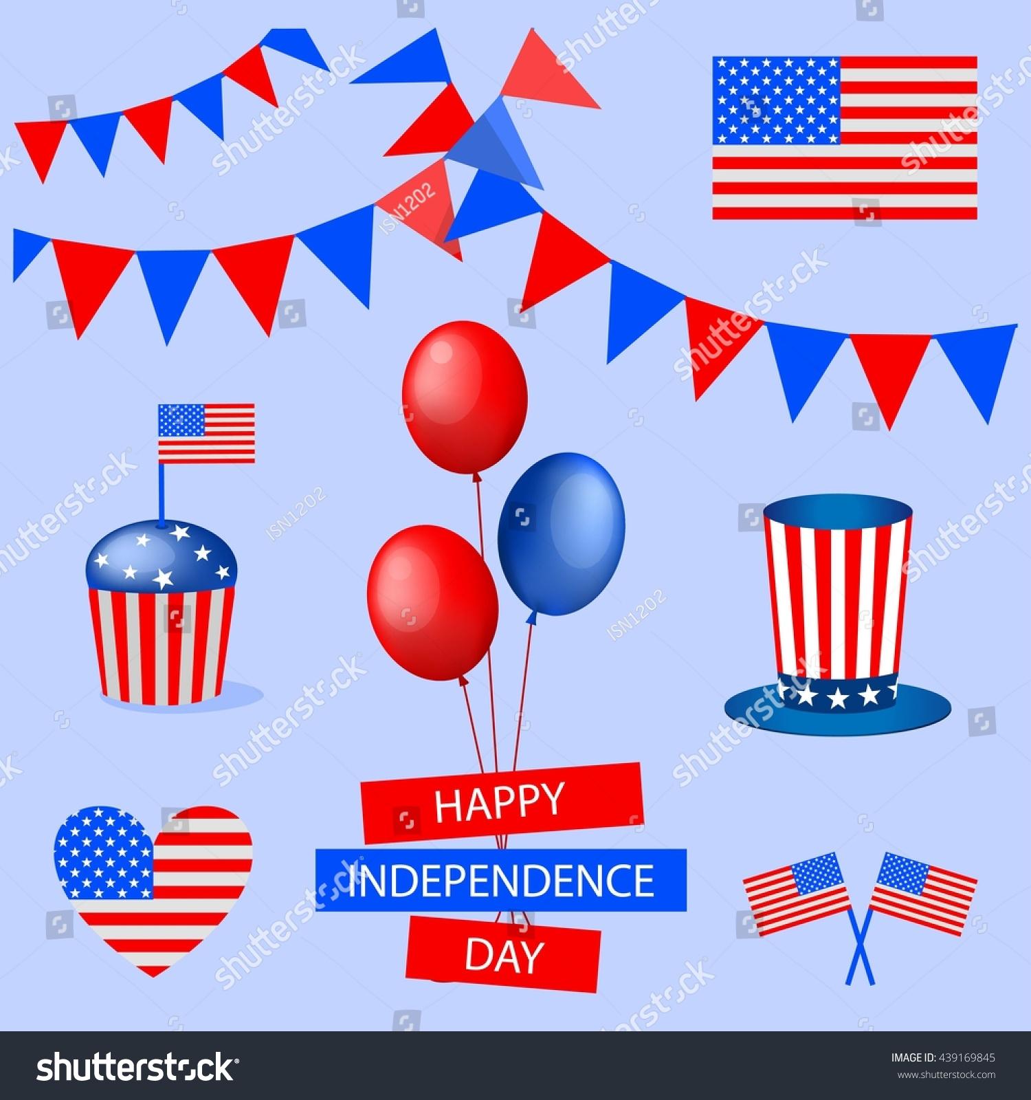 National symbols set independence day 4 stock vector 439169845 national symbols set for independence day 4 july blue background biocorpaavc
