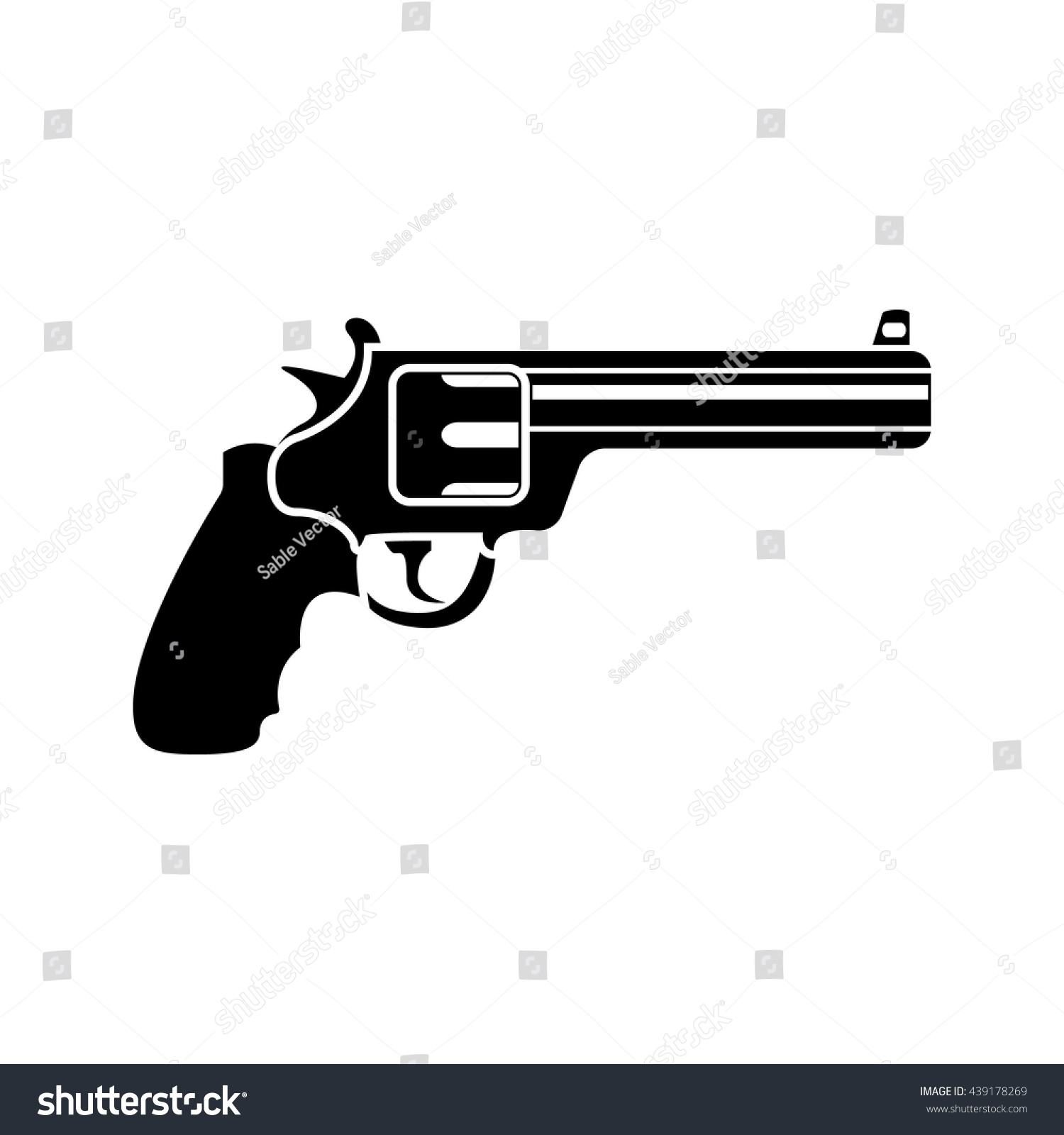 Magnum Revolver Black Simple Icon Vector Stock-Vektorgrafik ...