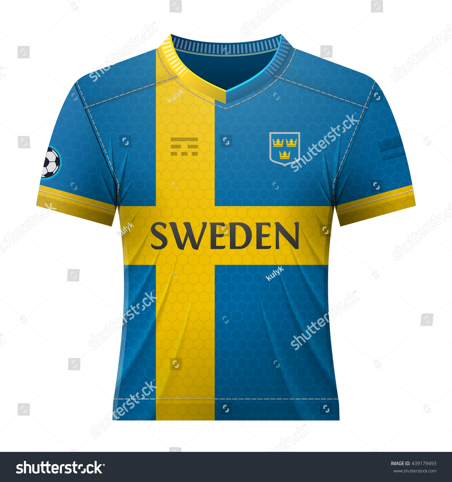 2b0023020 ... soccer shirt in colors of swedish flag. national jersey for football  team of sweden.
