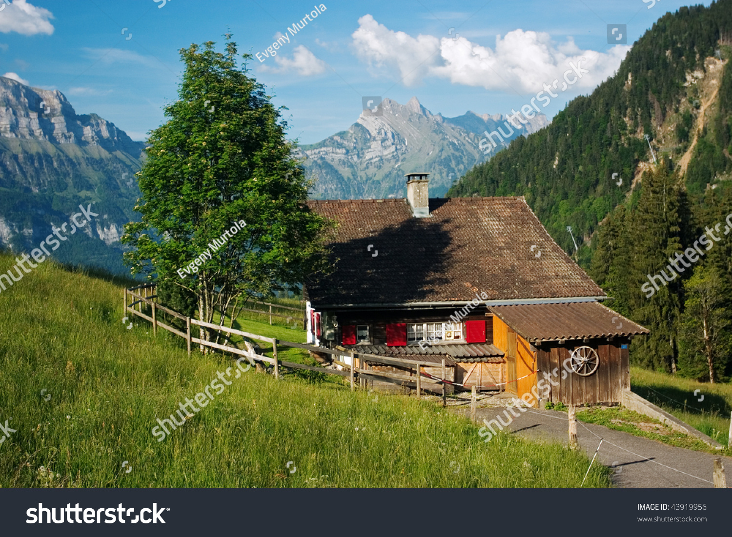Vacation house in the mountains flumserberg switzerland stock photo 43919956 shutterstock - Summer houses mountains ...
