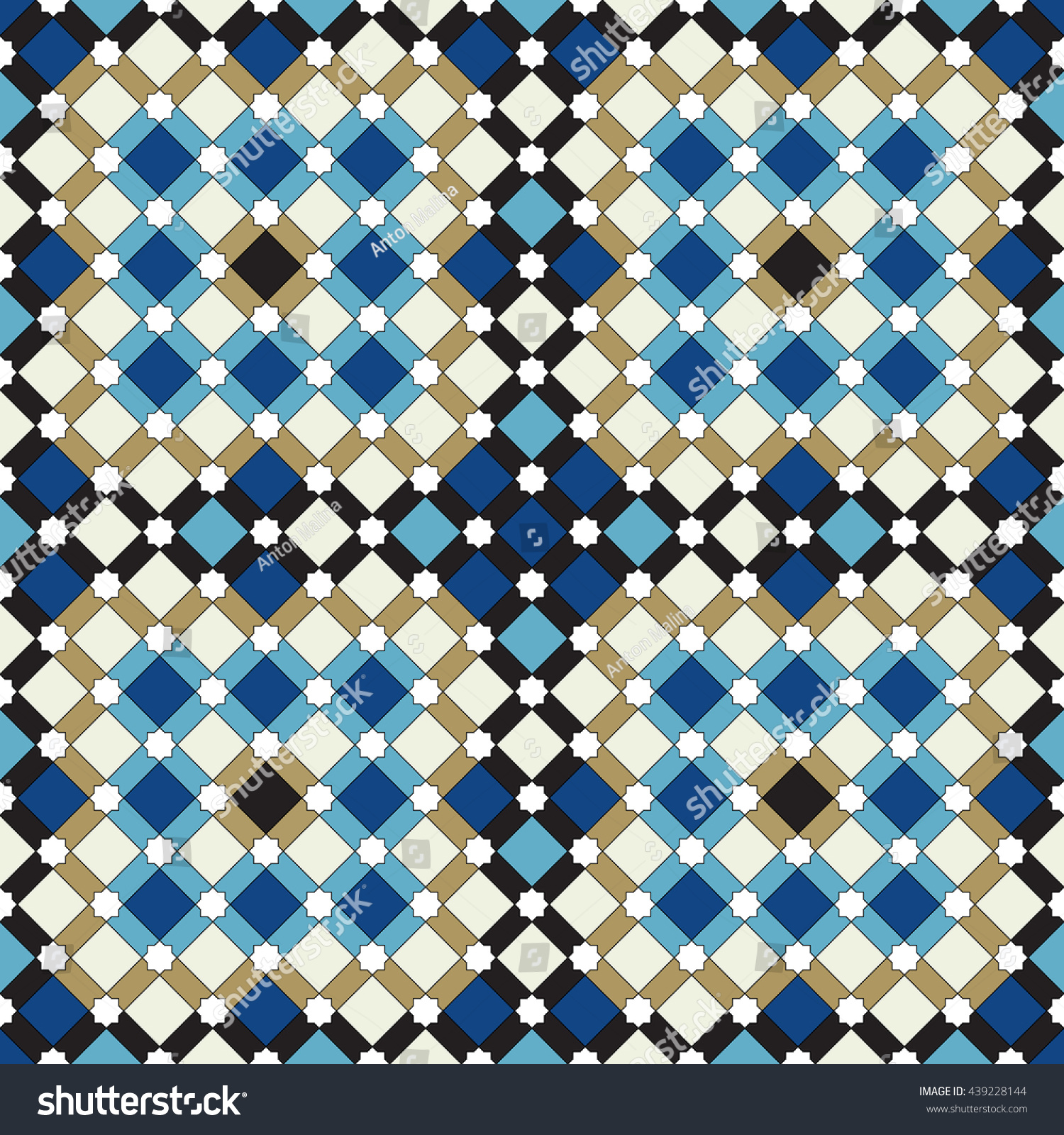 Moroccan Seamless Pattern Islamic Vector Background Stock Vector ...
