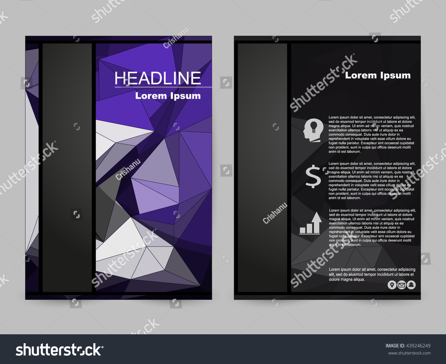 Book color scheme - Blue Color Scheme With City Background Business Book Cover Design Template In A4 Can Be
