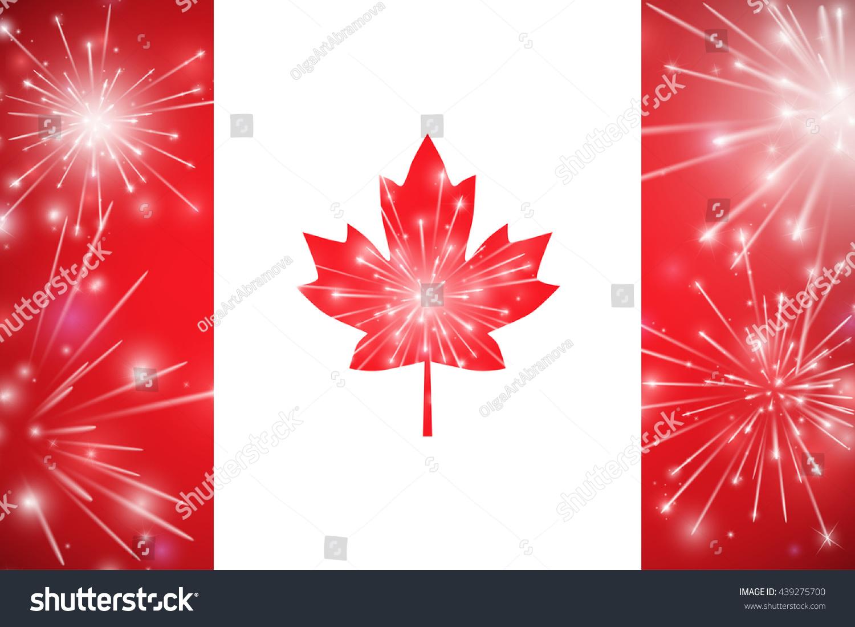 Happy Canada Day Card Canada Flag Stock Vector (Royalty Free ...