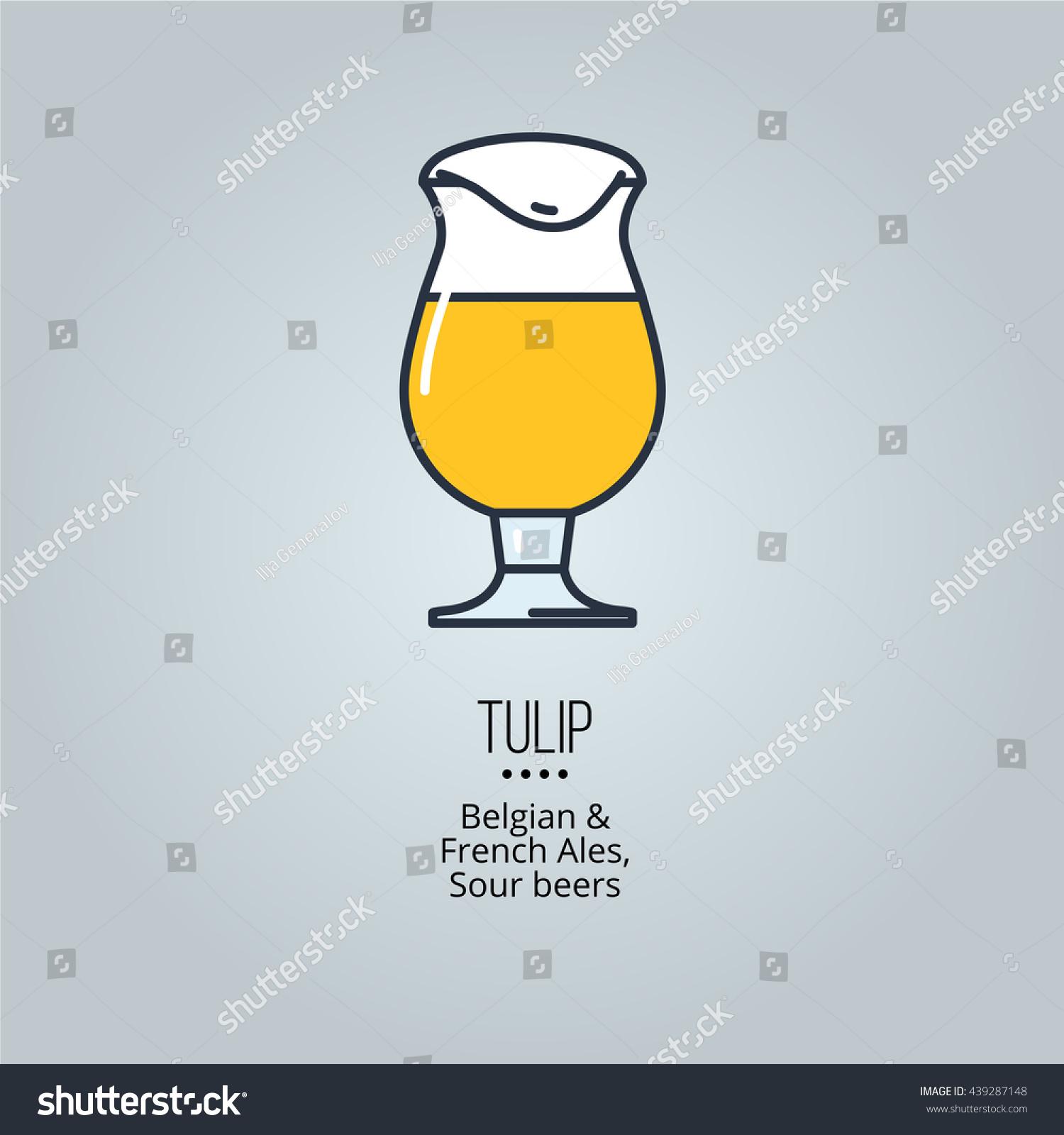 tulip glass icon stock vector 439287148 shutterstock