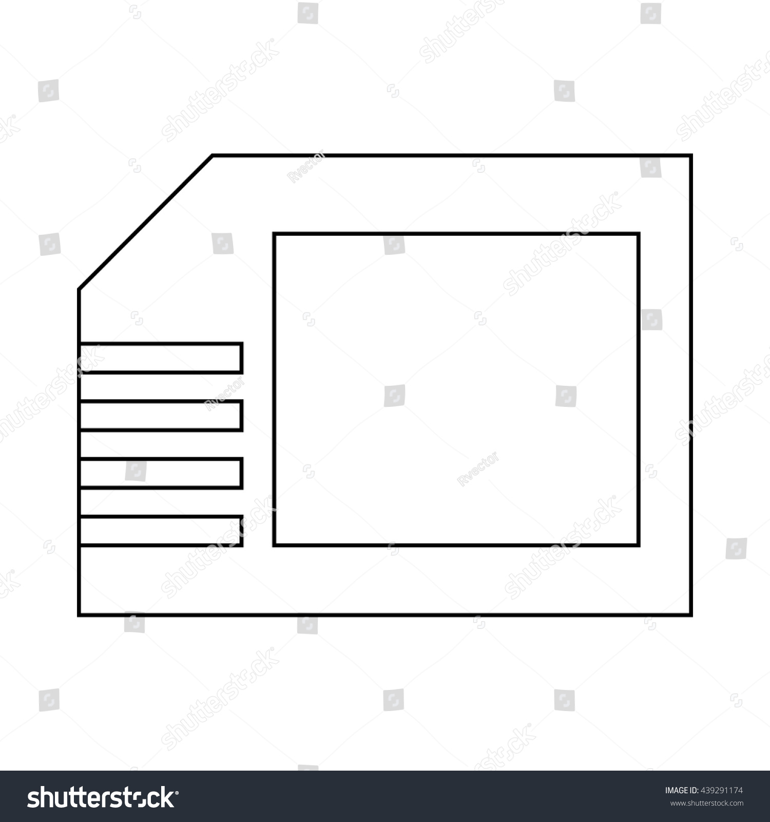 Micro sd card icon outline style stock vector 439291174 shutterstock micro sd card icon outline style pooptronica Choice Image
