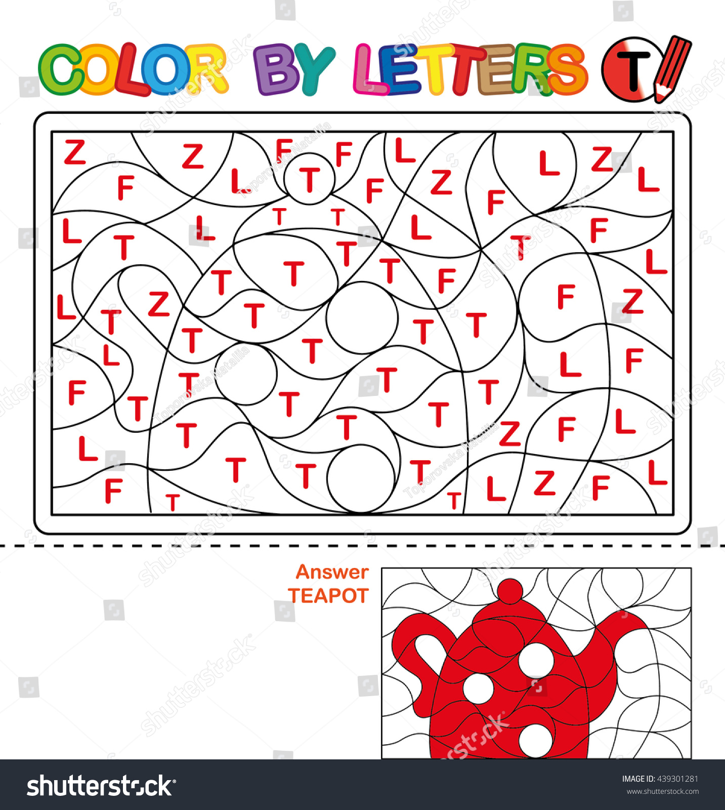 abc coloring book kids color by stock illustration 439301281