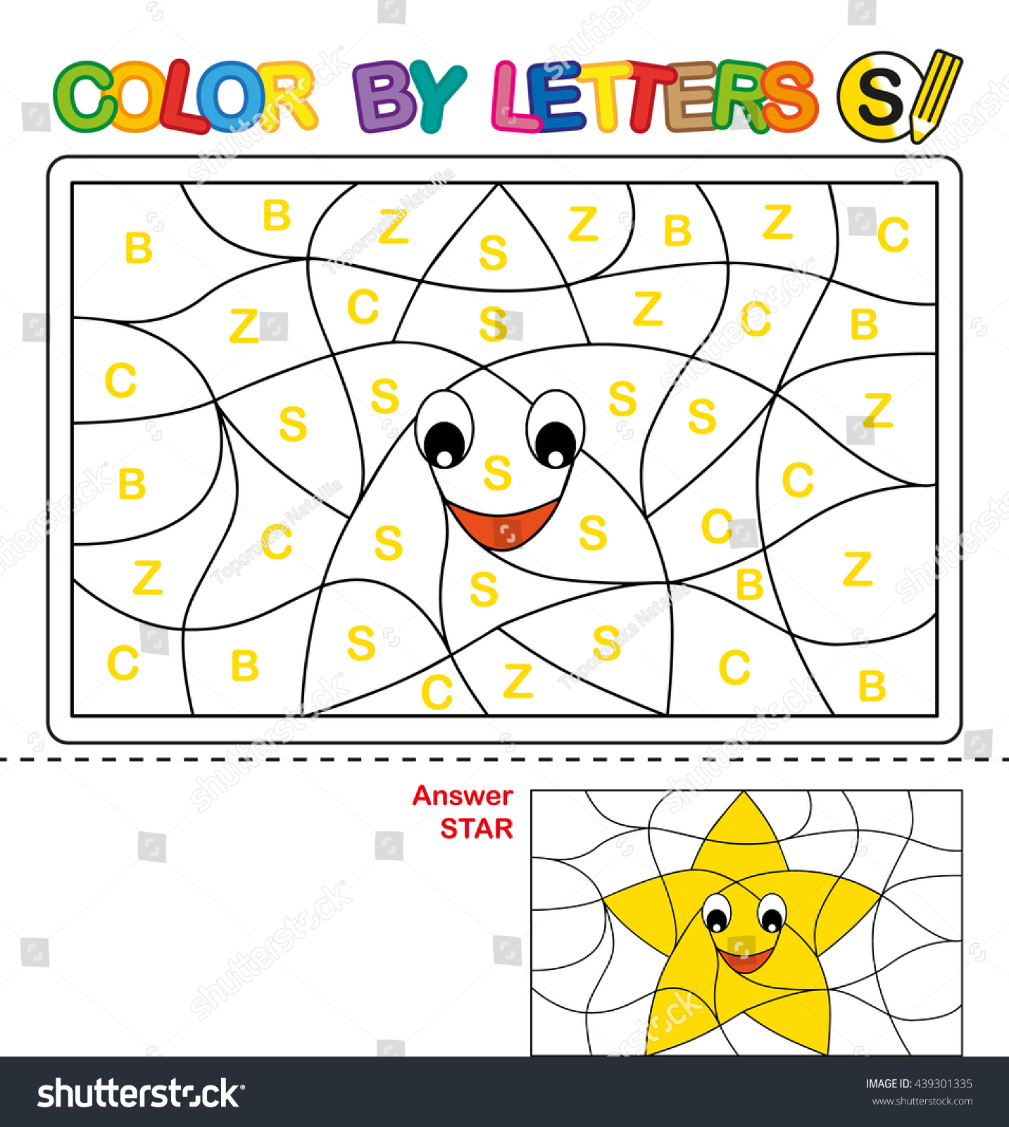 abc coloring book kids color by stock illustration 439301335