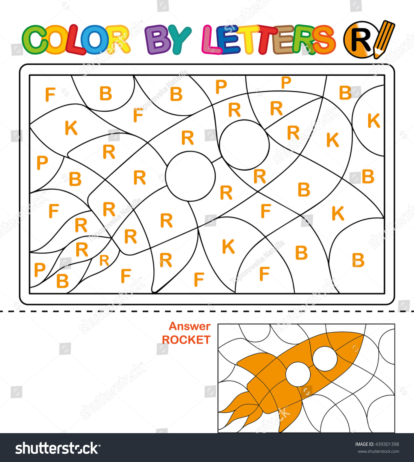 abc coloring book kids color by stock illustration 439301398