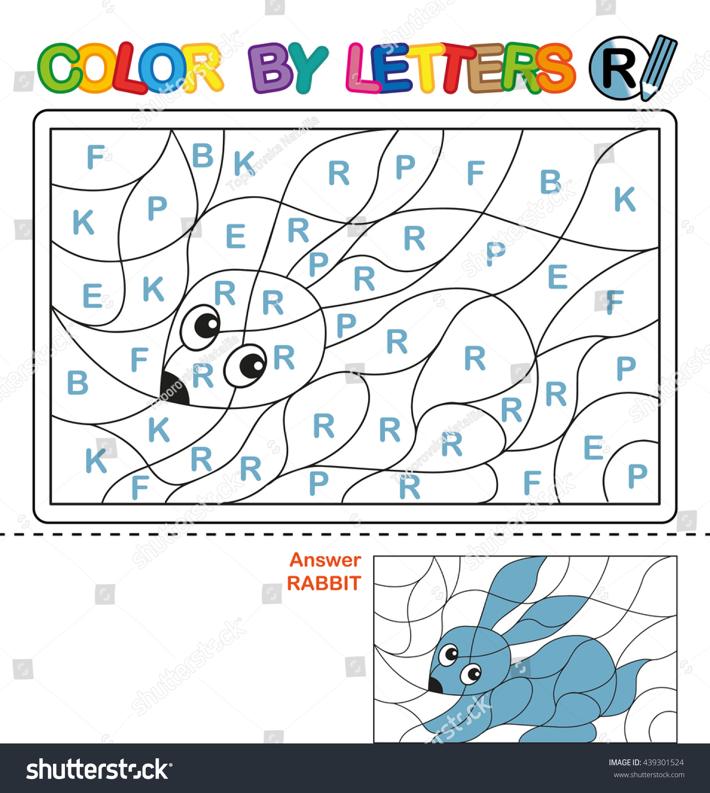 Abc Coloring Book Kids Color By Stock Ilration 439301524