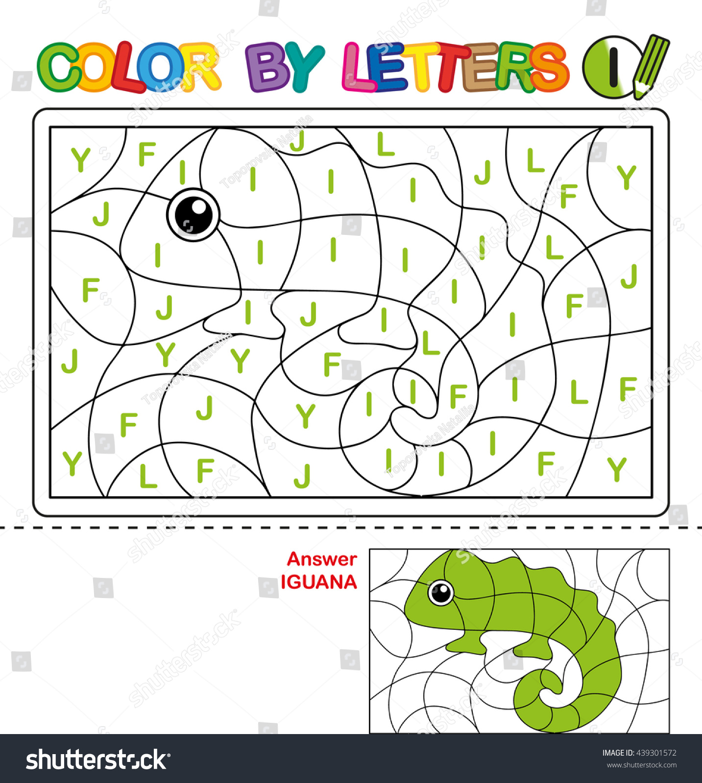 ABC Coloring Book Kids Color By Stock Illustration 439301572