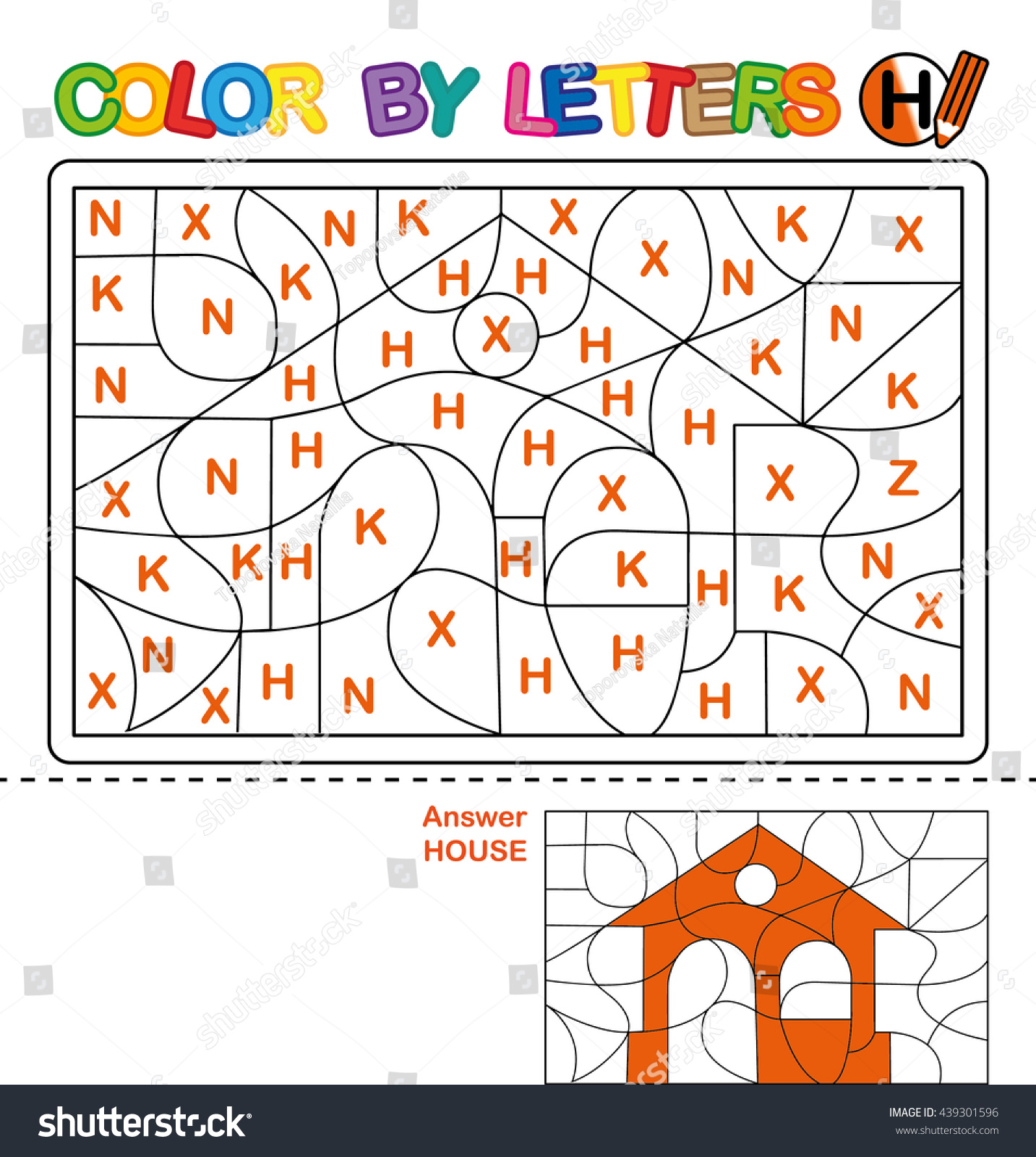 ABC Coloring Book Kids Color By Stockillustration 439301596 ...