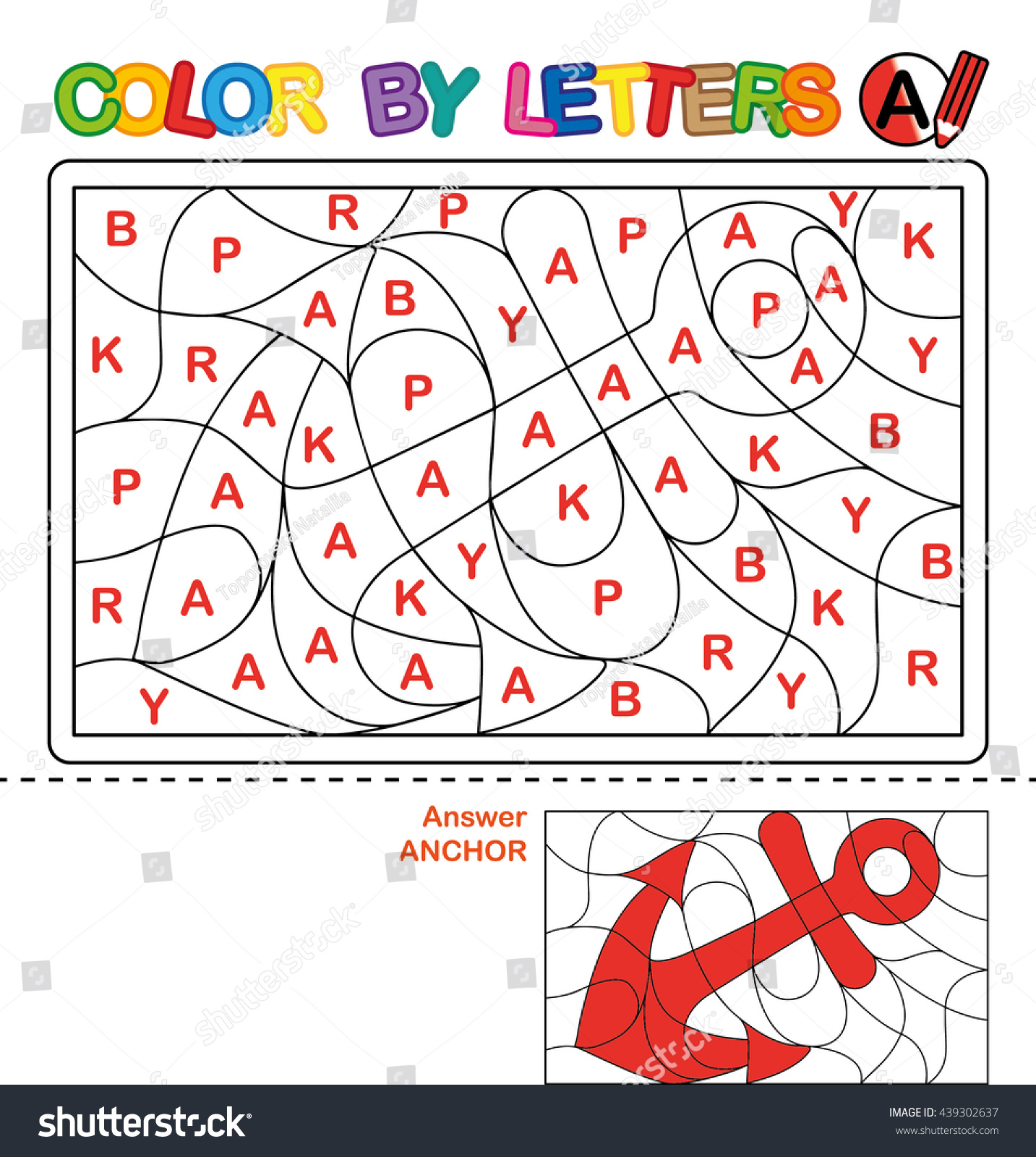abc coloring book kids color by stock illustration 439302637