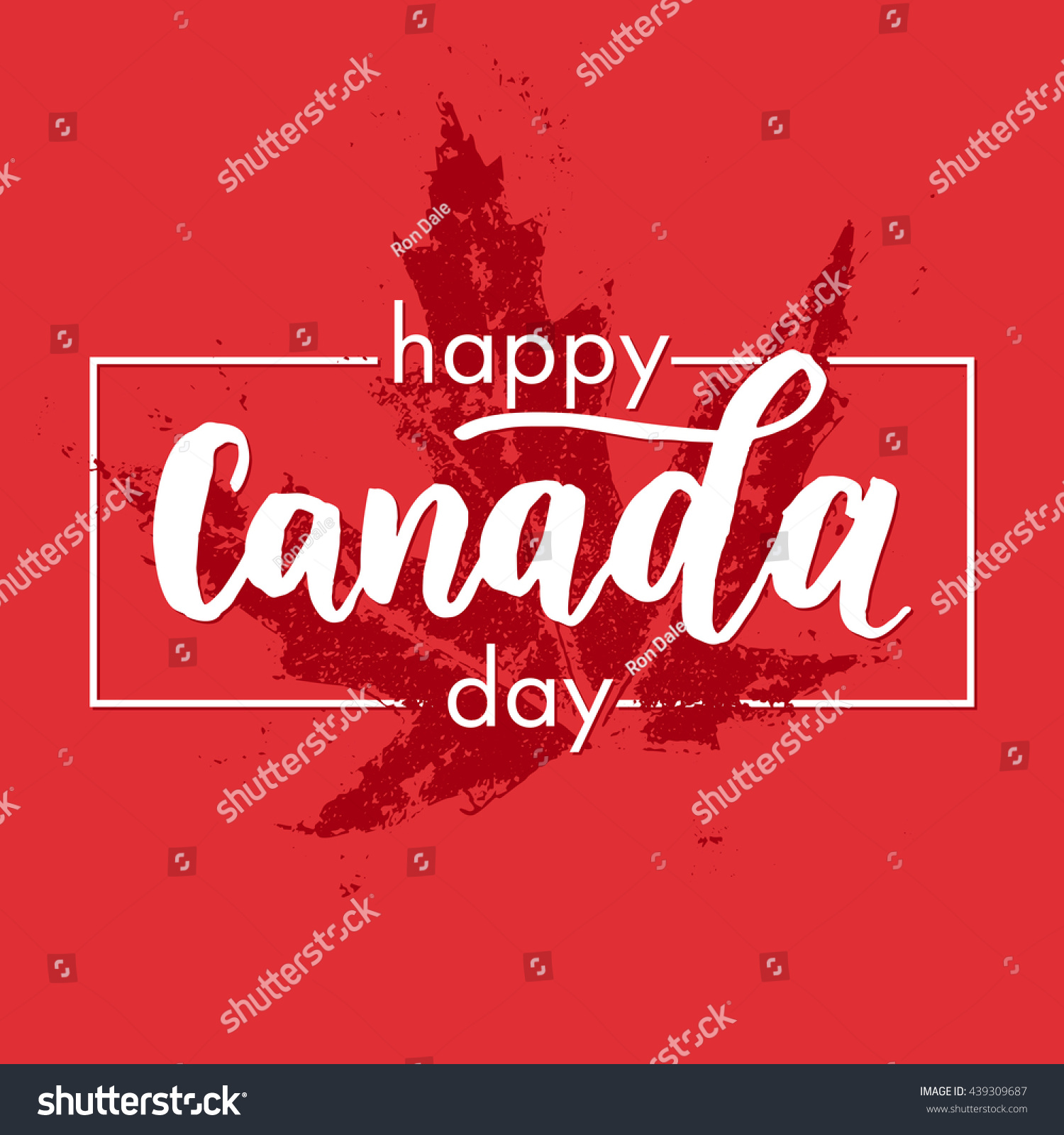 happy canada day poster canadian flag stock vector 439309687
