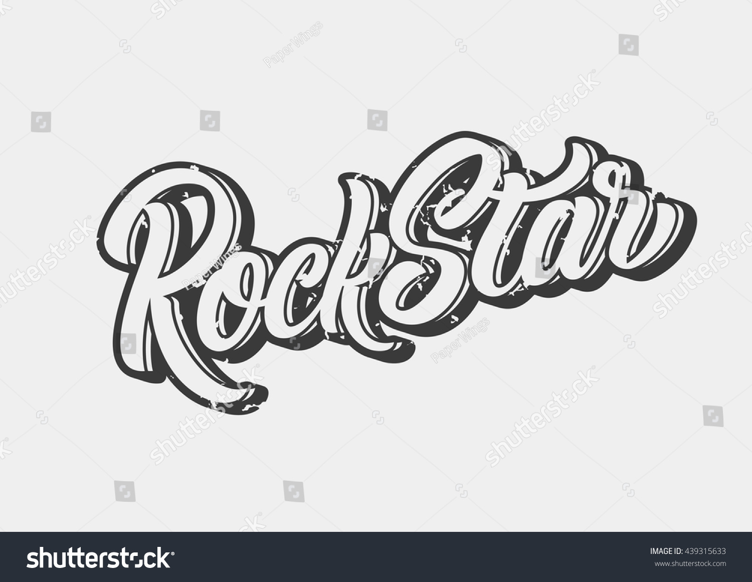 Rock Star Lettering Print Stock Vector 439315633 ...