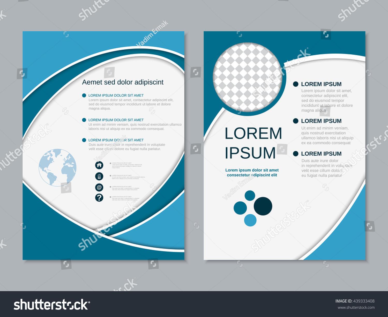 Modern Business Twosided Flyer Design Vector Stock Vector (Royalty ...