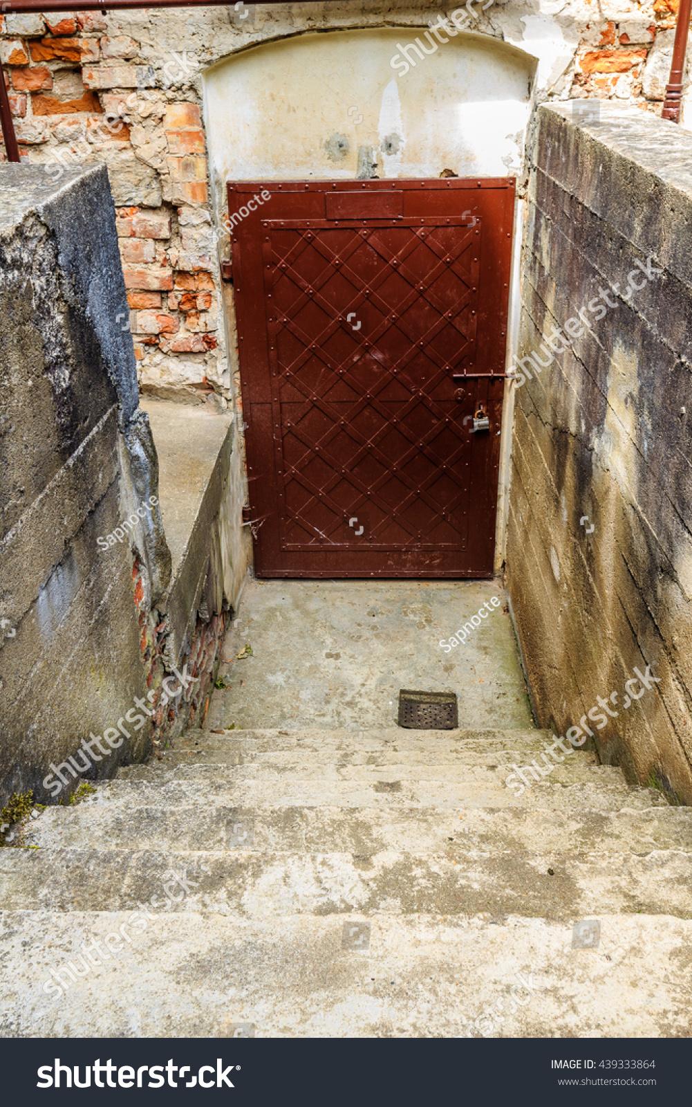 Old Metal Basement Door