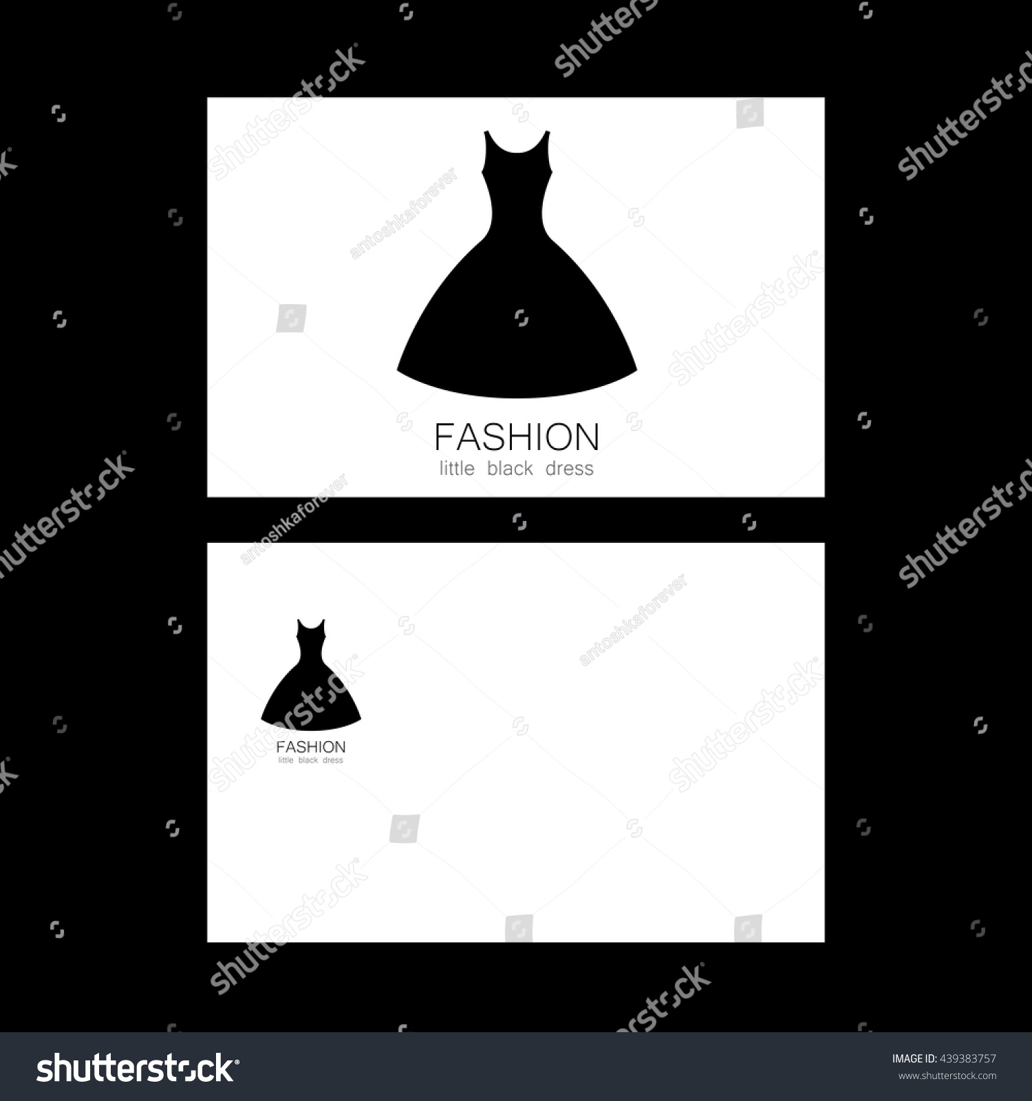 Fashion Logo Template Concept Business Card Stock Vector Royalty